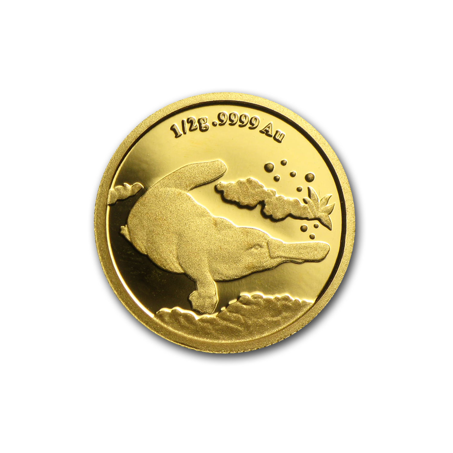 2014 Australia 1/2 gram Proof Gold $2 Platypus