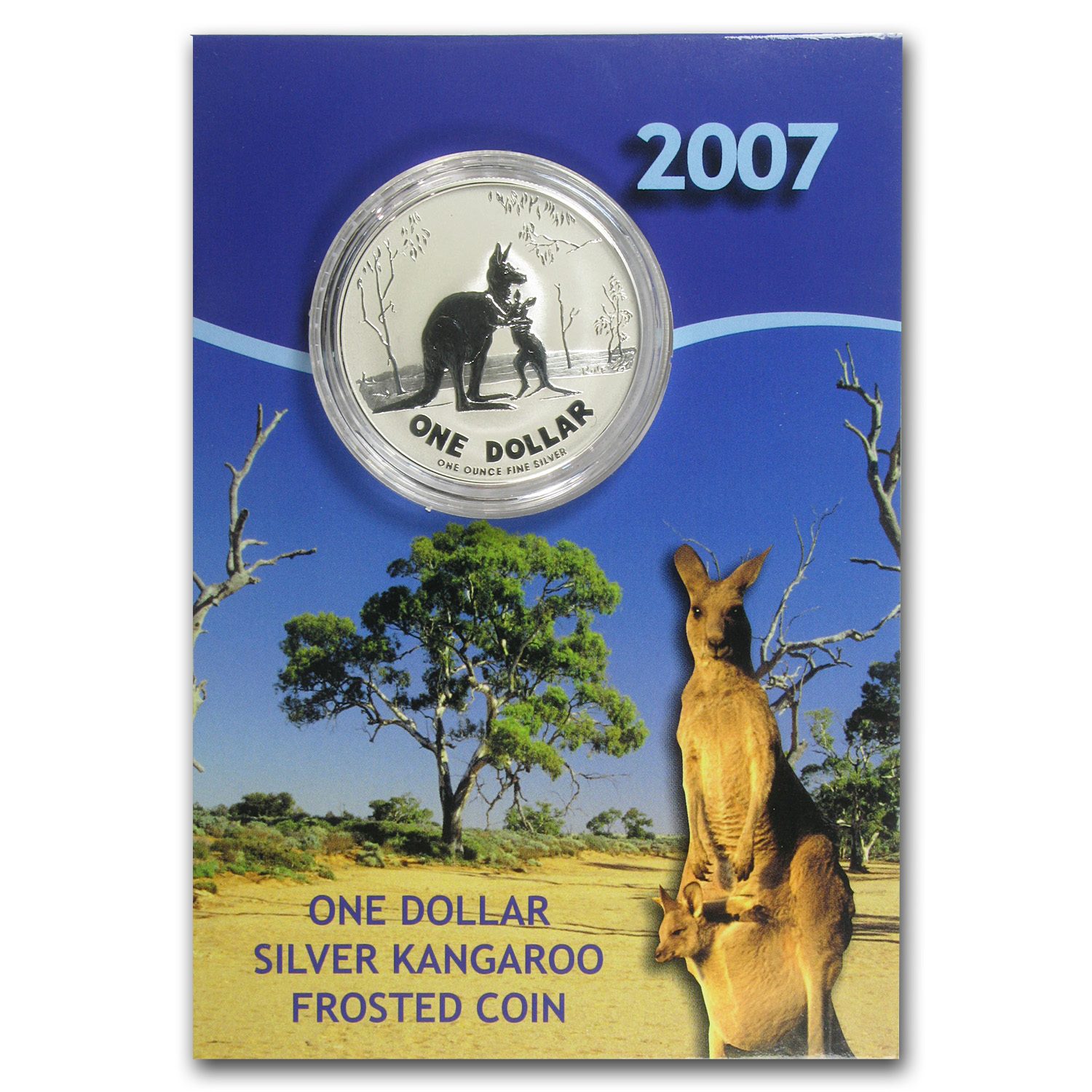 1993-2015 23-Coin 1 oz Silver Kangaroo Set BU (Display Cards)