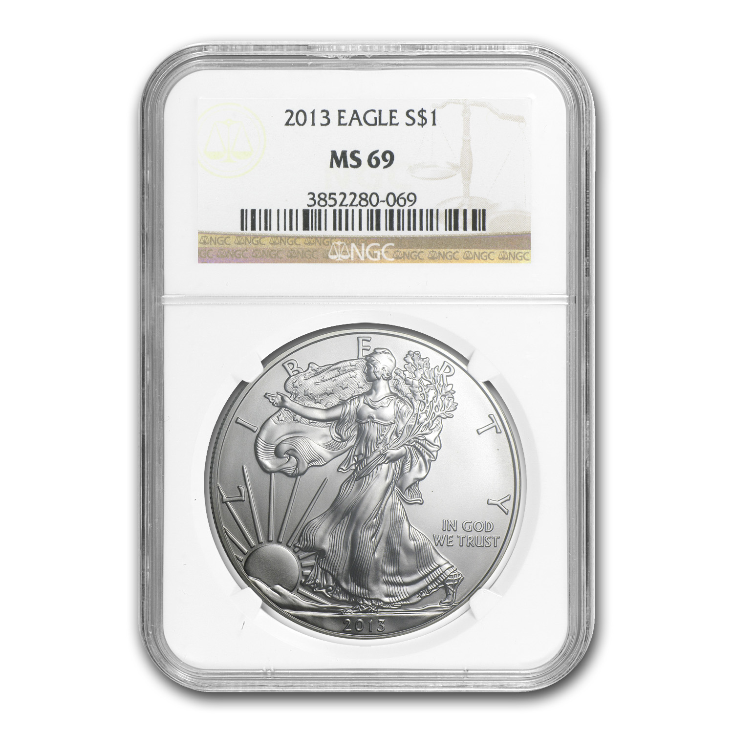 2013 Silver American Eagle MS-69 NGC