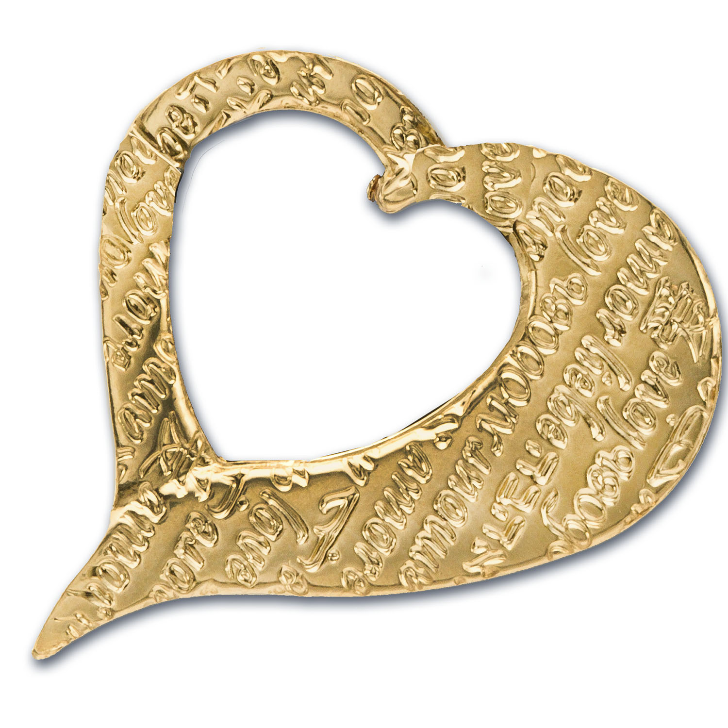 4 gram Gold Hearts - Pamp Suisse (18K, Flame of Love Talisman)