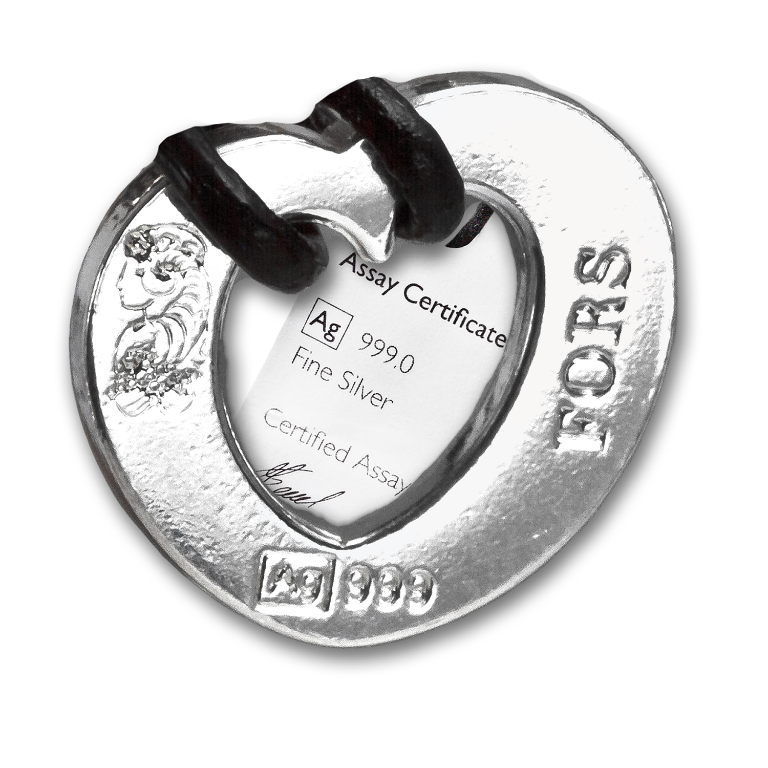 .999 Fine Silver Wave of Emotion Peace Talisman - Pamp Suisse