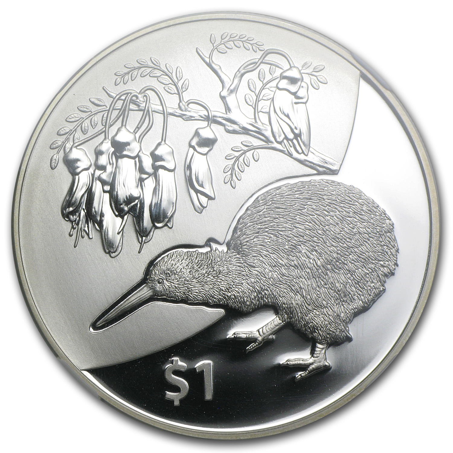 2012 New Zealand 1 oz Silver Treasures $1 Kiwi-Kowhai PF-69 NGC