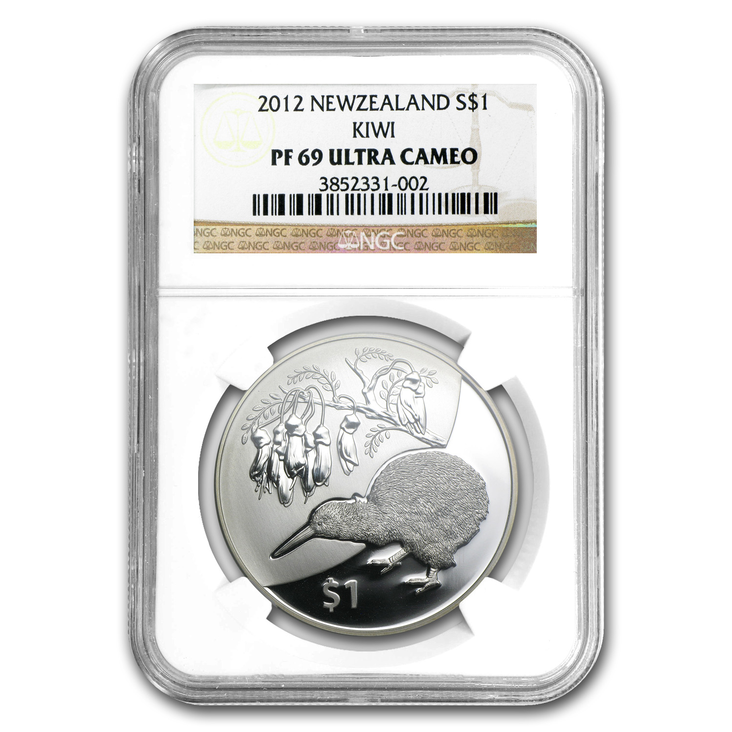 2012 1 oz Silver New Zealand $1 Kiwi Treasures PF-69 UCAM NGC