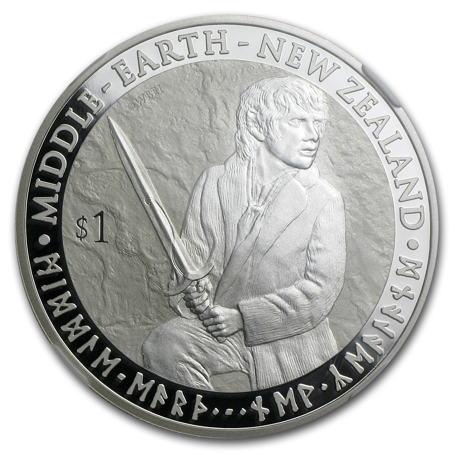 The Hobbit-An Unexpected Journey-Bilbo Baggins Silver Coin PF-70
