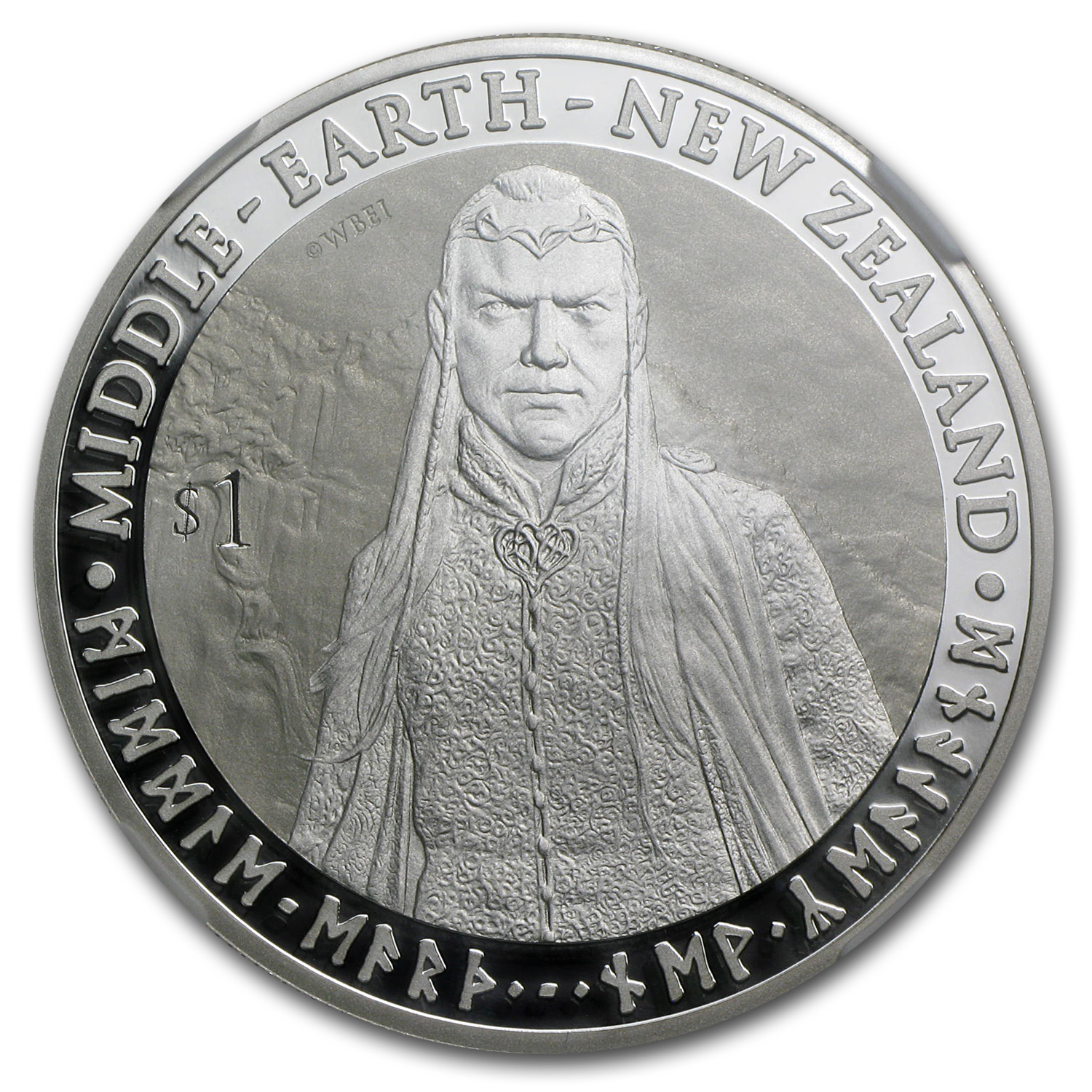 2012 New Zealand 1 oz Silver $1 Elrond PF-69 NGC