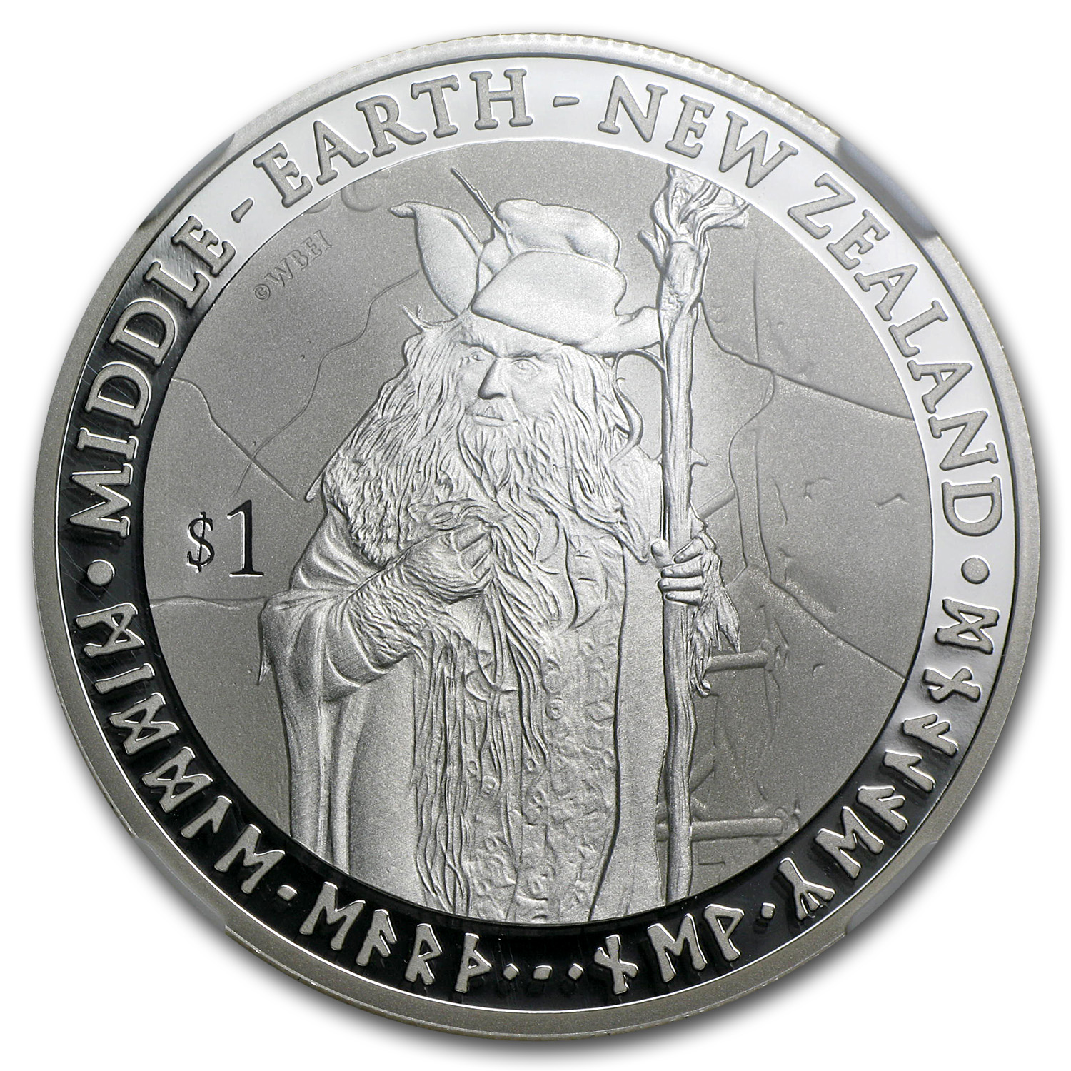 2012 New Zealand 1 oz Silver $1 Radagast The Brown PF-70 NGC