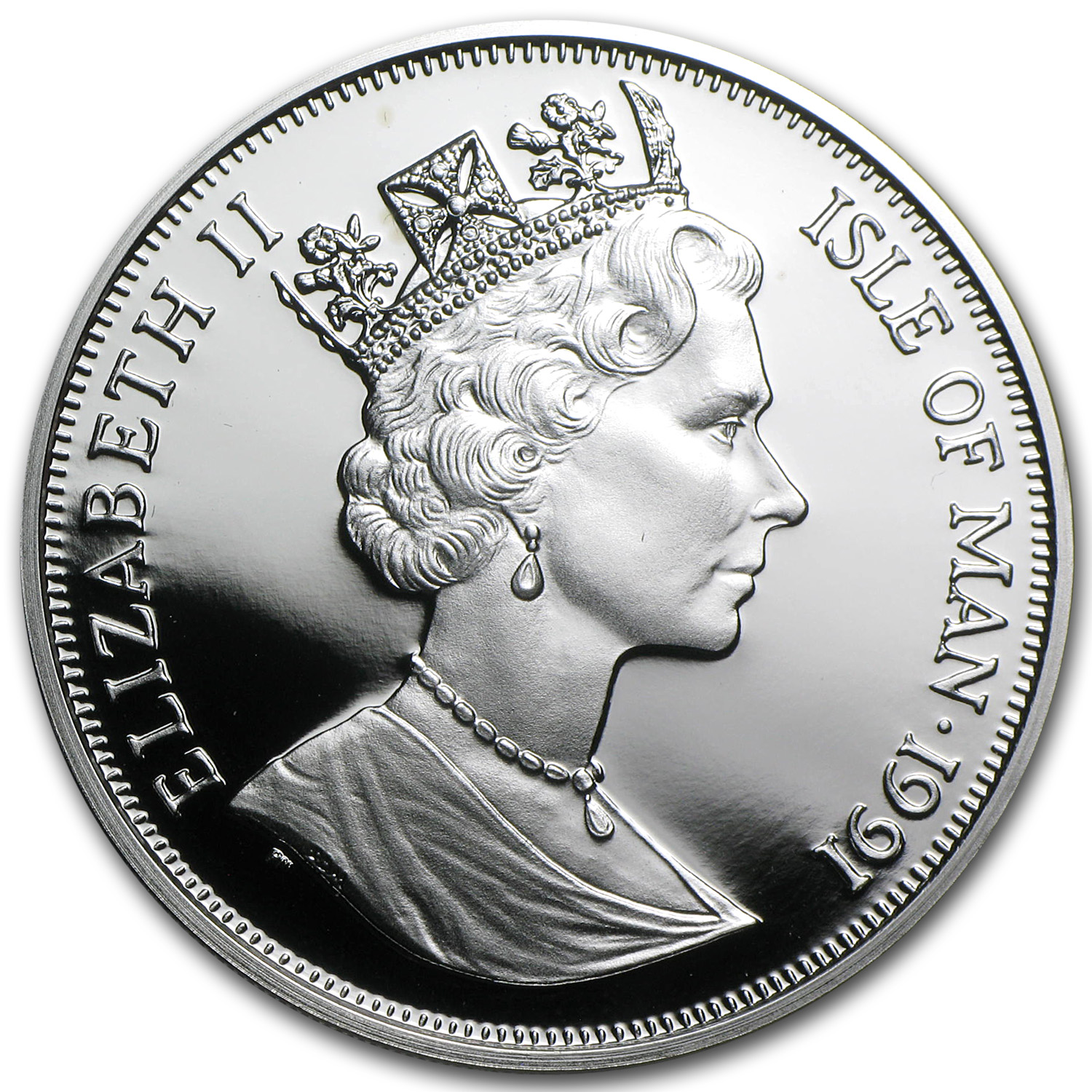 1991 Isle of Man Silver 1 Crown Norwegian Cat Proof