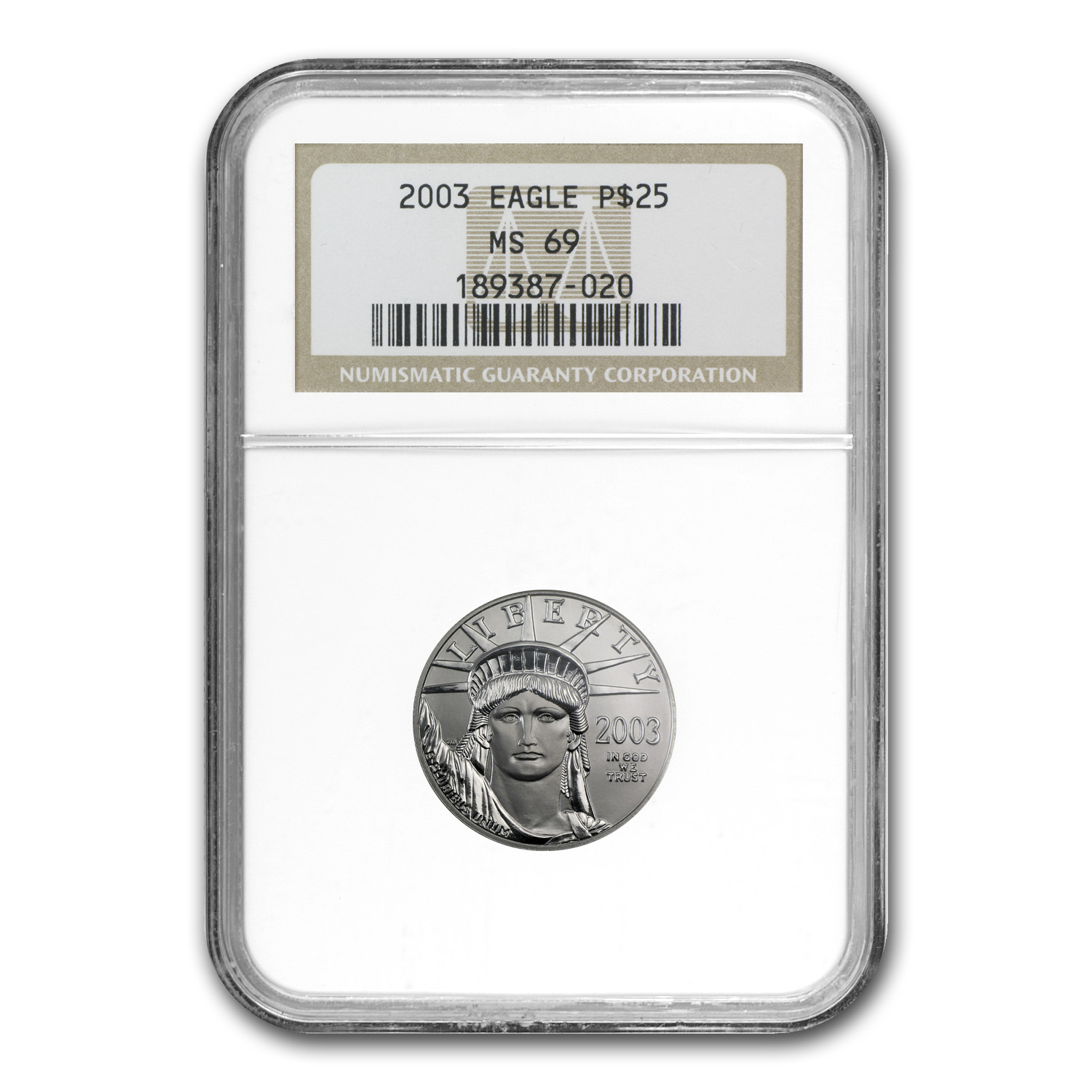 2003 4-Coin Platinum American Eagle Set MS-69 NGC