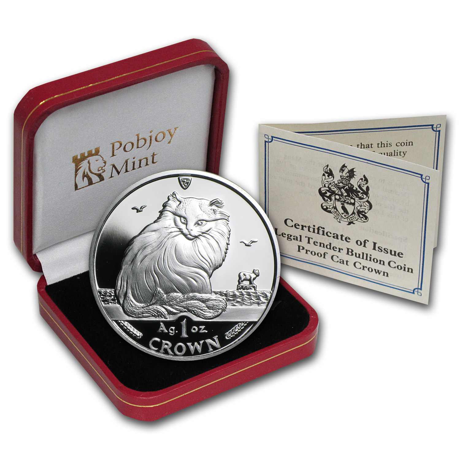 1995 Isle of Man 1 oz Silver Turkish Cat Proof