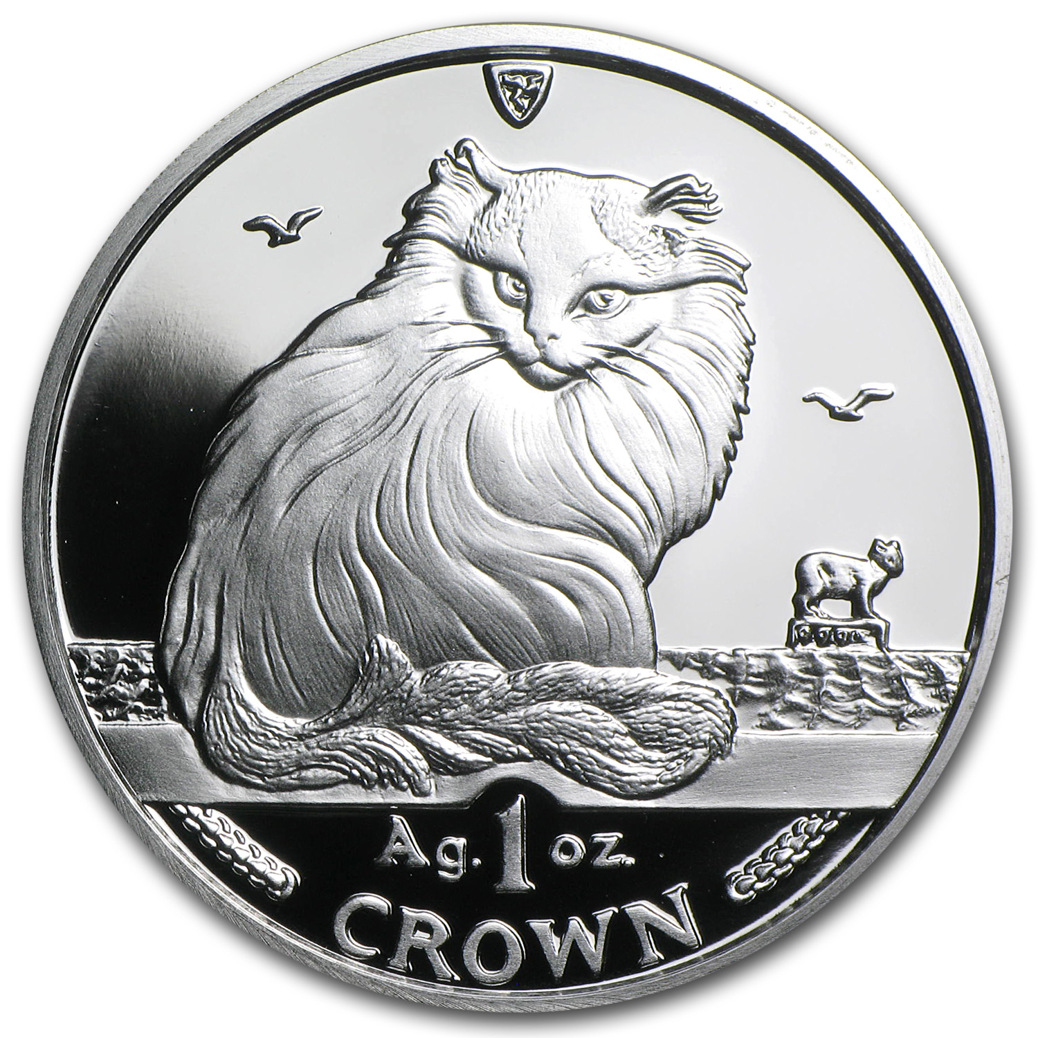 1995 Isle of Man Silver 1 Crown Turkish Cat Proof