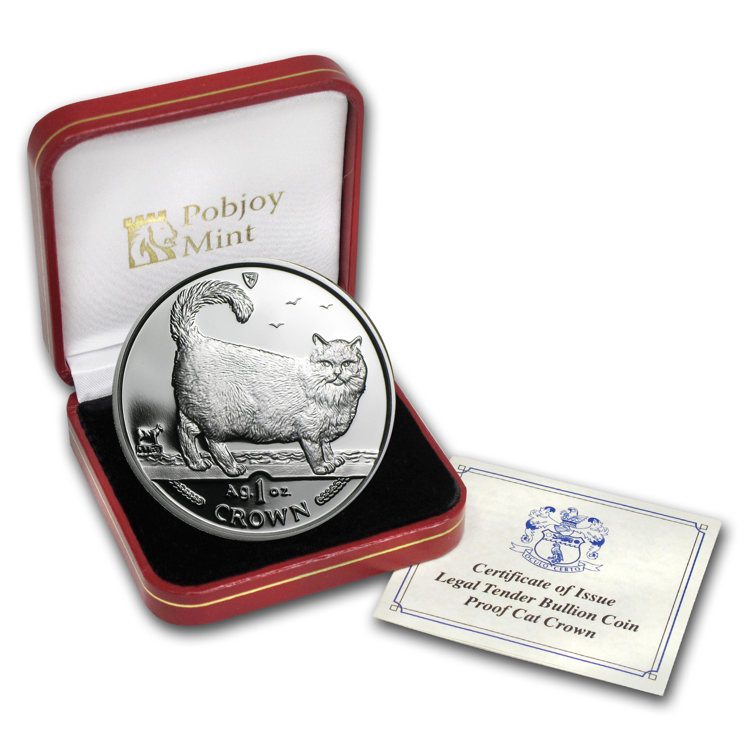 Isle of Man 1998 1 Crown Silver Proof Birman Cat