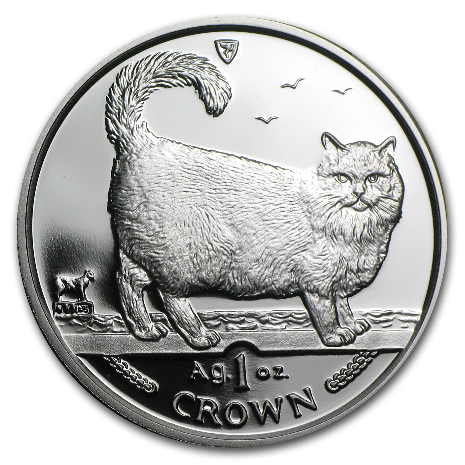1998 Isle of Man Silver 1 Crown Birman Cat Proof