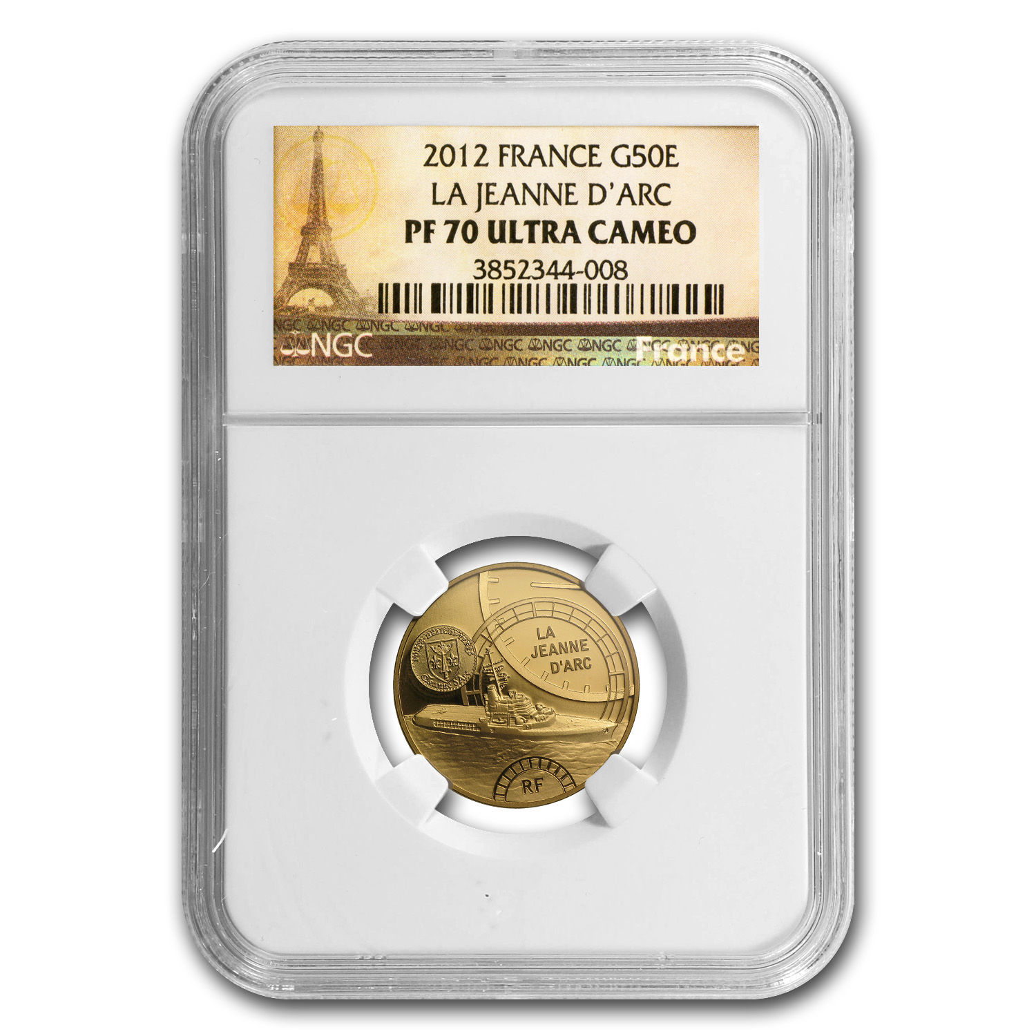 2012 1/4 oz Gold Great French Ships The Jeanne D´Arc PF-70 NGC