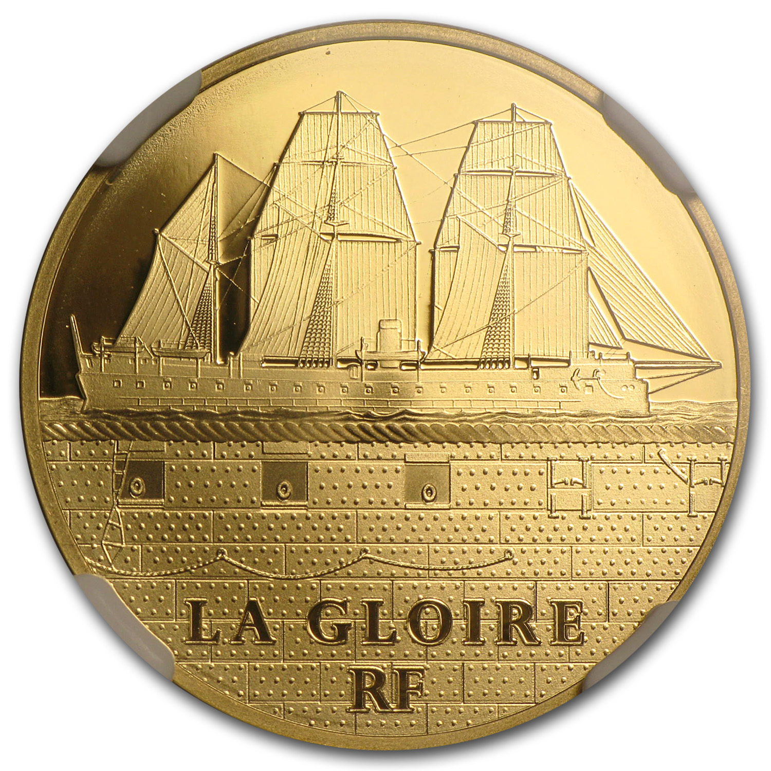 2013 1/4 oz Gold Proof Great French Ships - La Gloire - PF-70 NGC