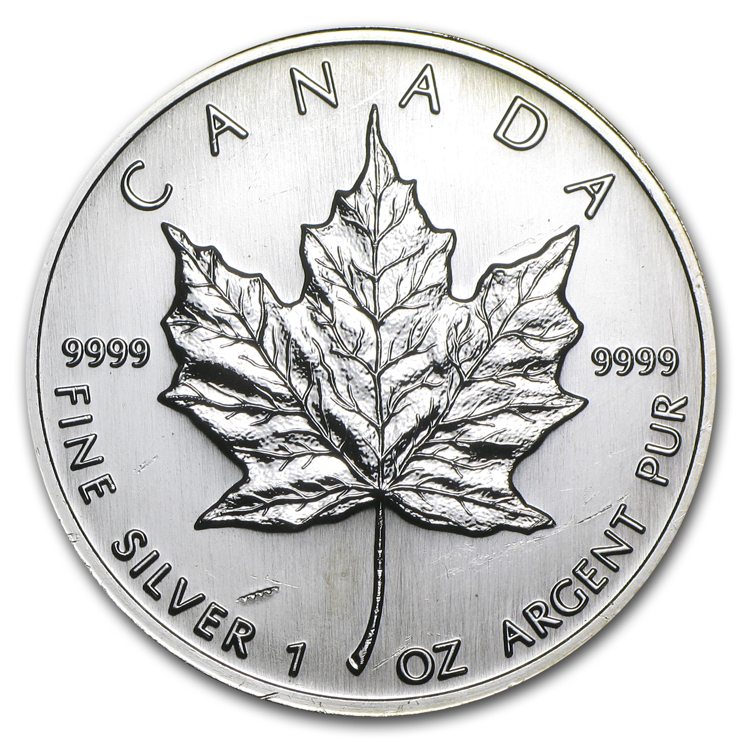 1997 1 oz Silver Canadian Maple Leaf (Light Abrasions)