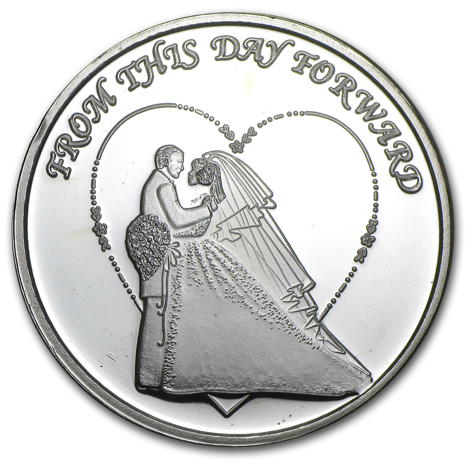 1 oz Silver Rounds - 2014 Wedding (w/Box & Capsule)
