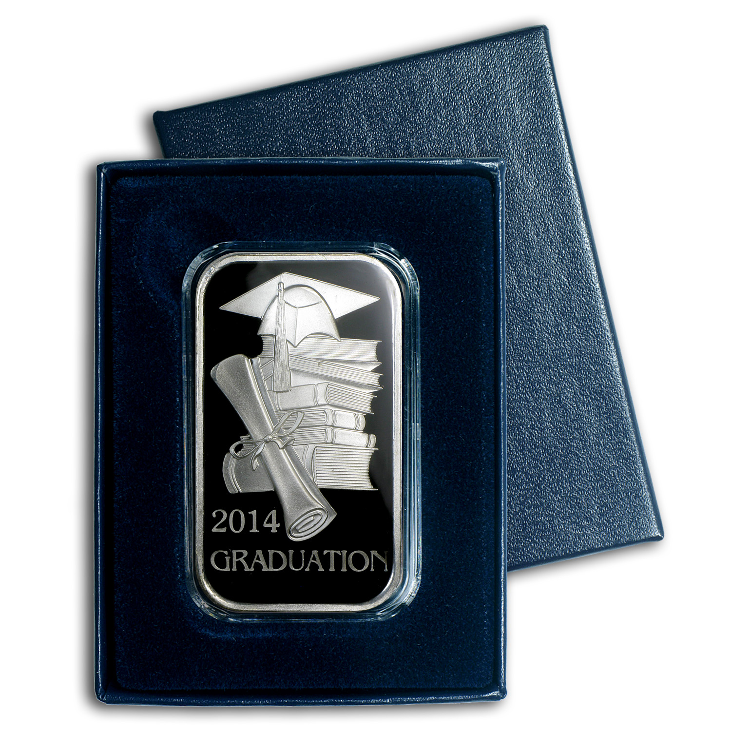 1 oz Silver Bar - 2014 Graduation (Enameled, w/Box & Capsule)