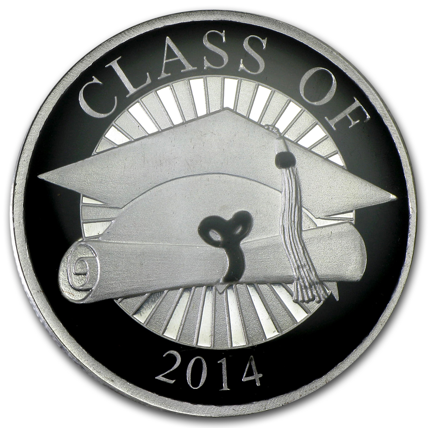 1 oz Silver Round - Graduation 2014 (Enameled,w/Box & Capsule)