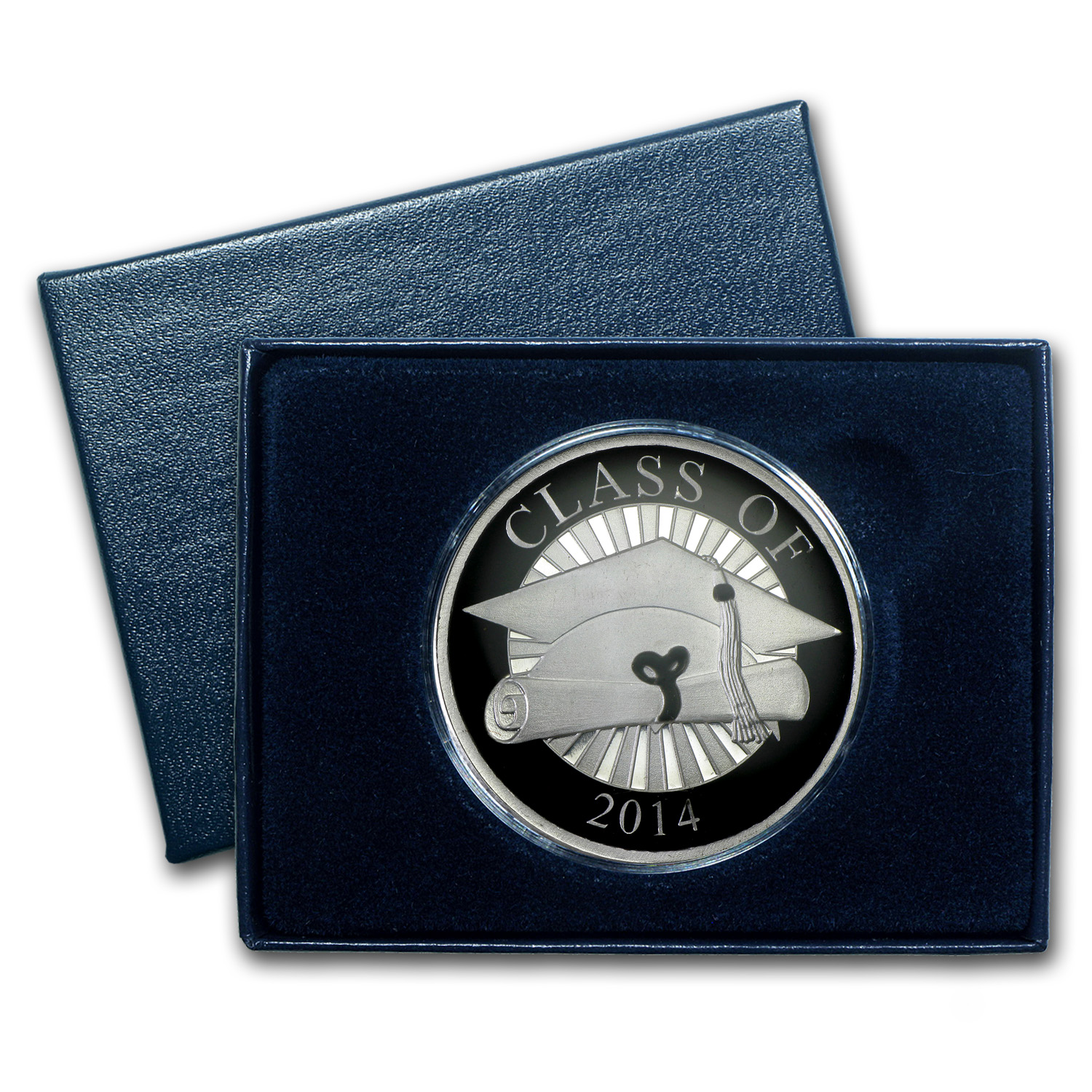 2014 1 oz Silver Rounds - Graduation Enameled (w/Box & Capsule)