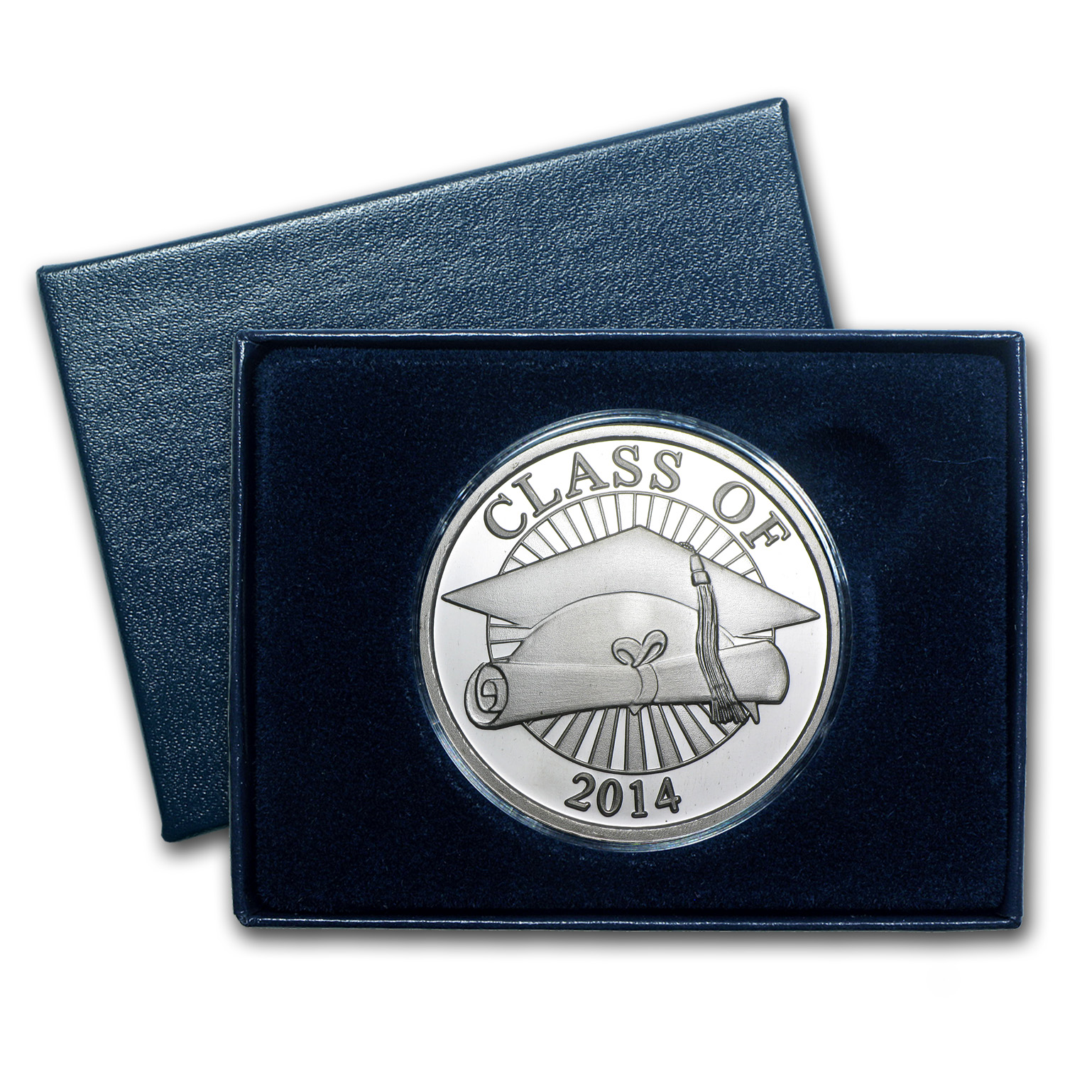2014 1 oz Silver Rounds - Graduation (w/Box & Capsule)