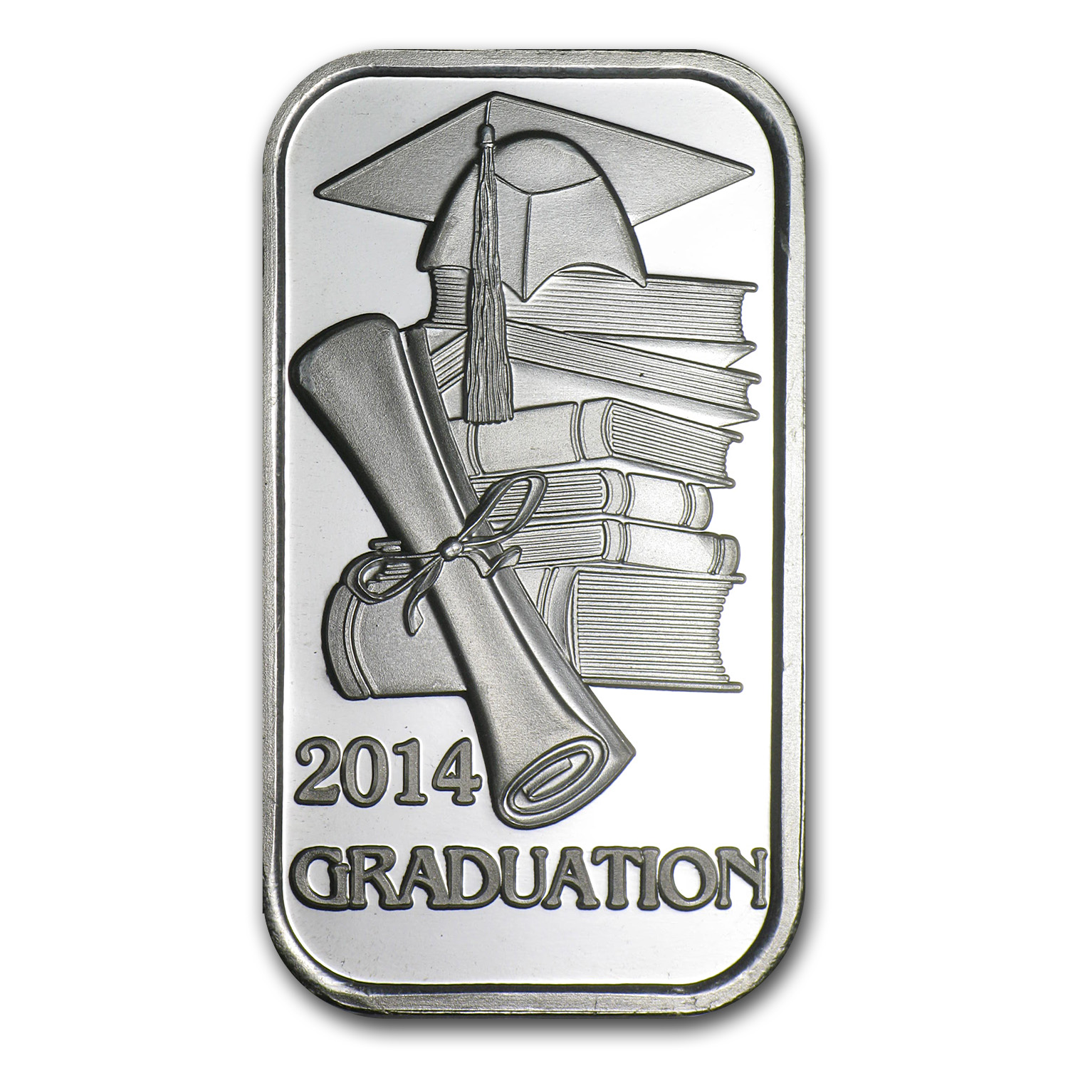 1 oz Silver Bar - 2014 Graduation (w/Gift Box & Capsule)