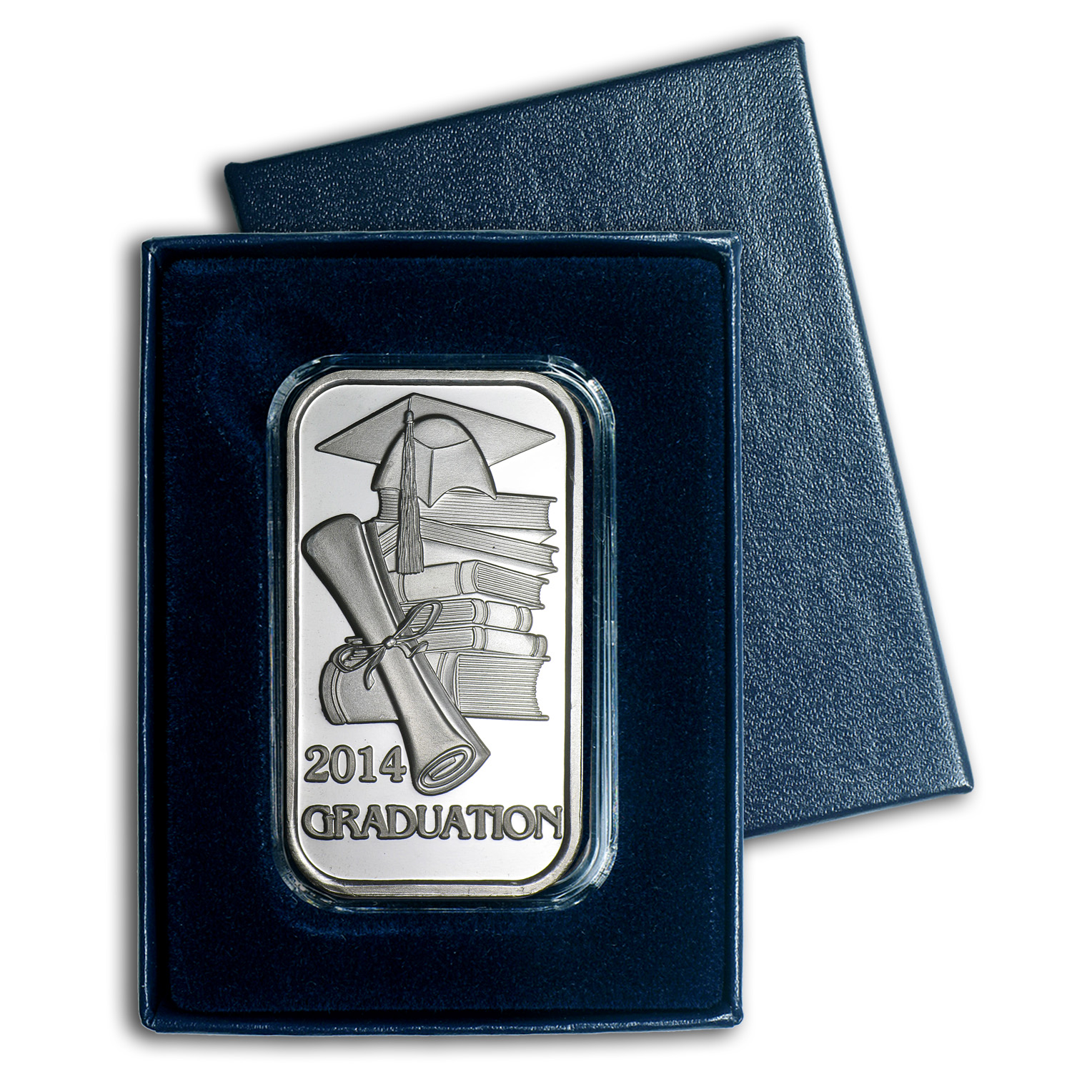 1 oz Silver Bars - 2014 Graduation (w/Gift Box & Capsule)