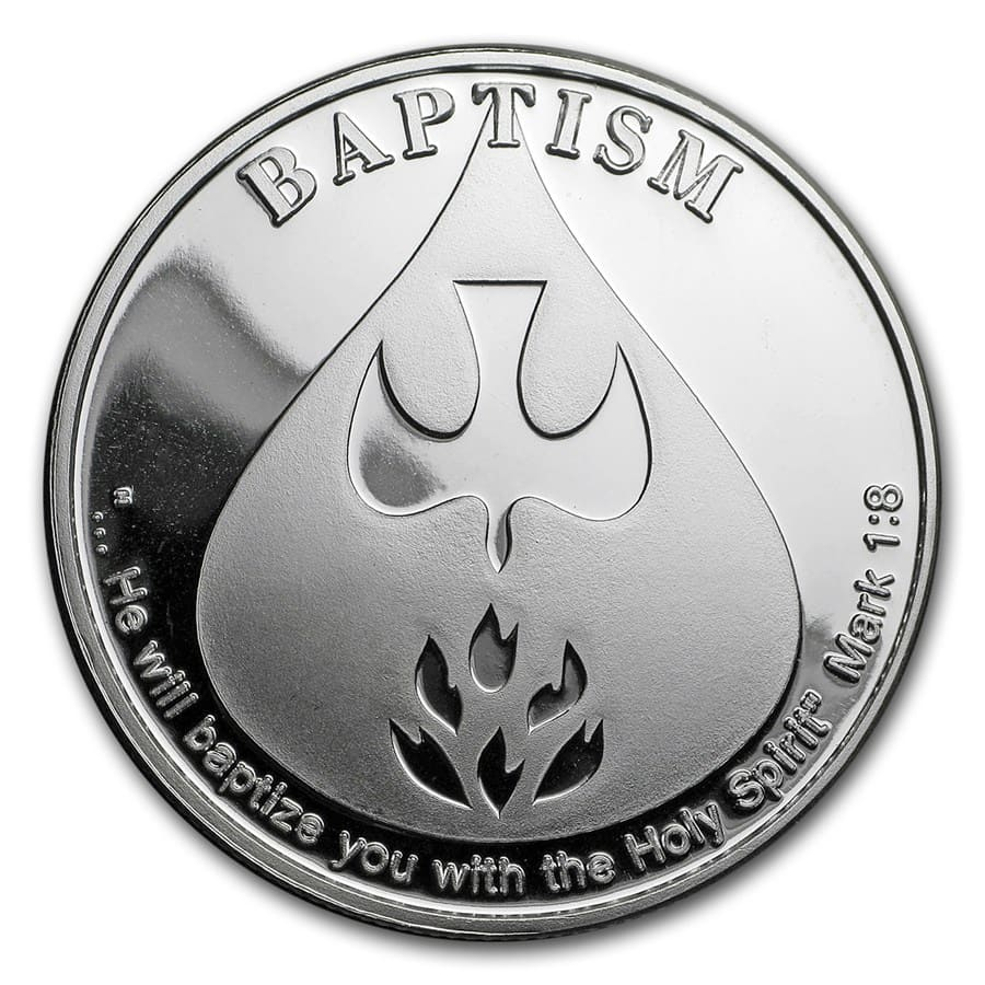 1 oz Silver Round - Baptism (w/Box & Capsule)