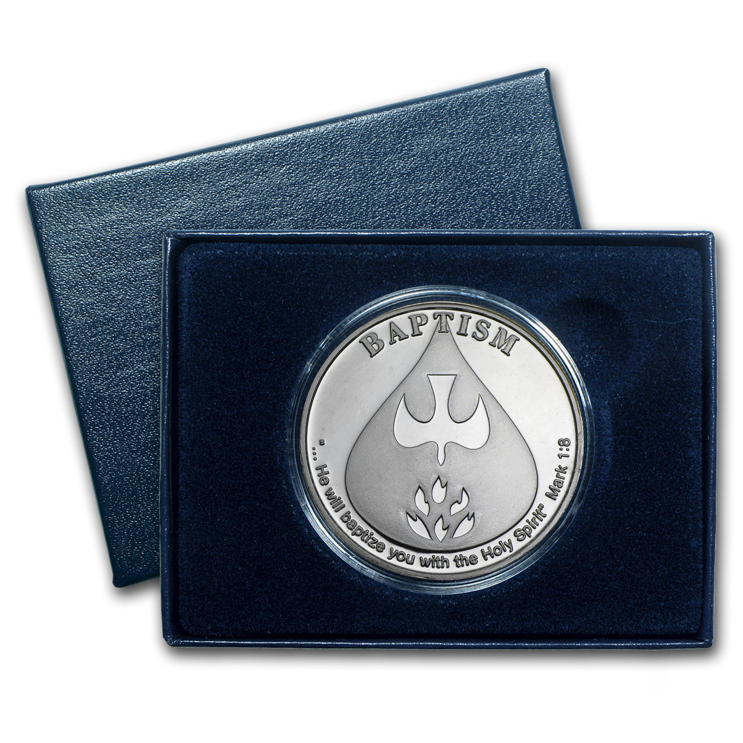 2014 1 oz Silver Rounds - Baptism (w/Box & Capsule)