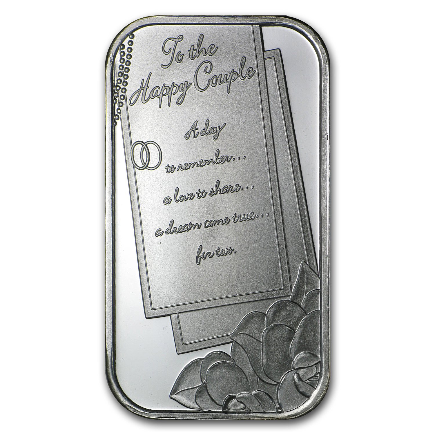 1 oz Silver Bars - 2014 Wedding (w/Box & Capsule)