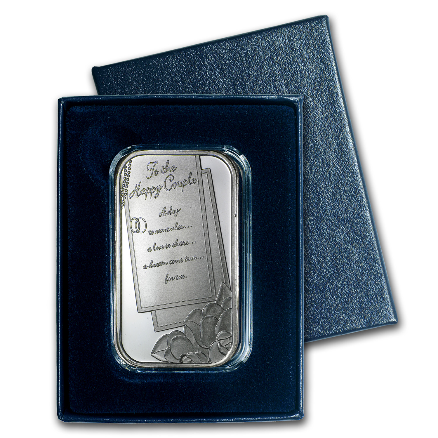 1 oz Silver Bar - 2014 Wedding (w/Box & Capsule)