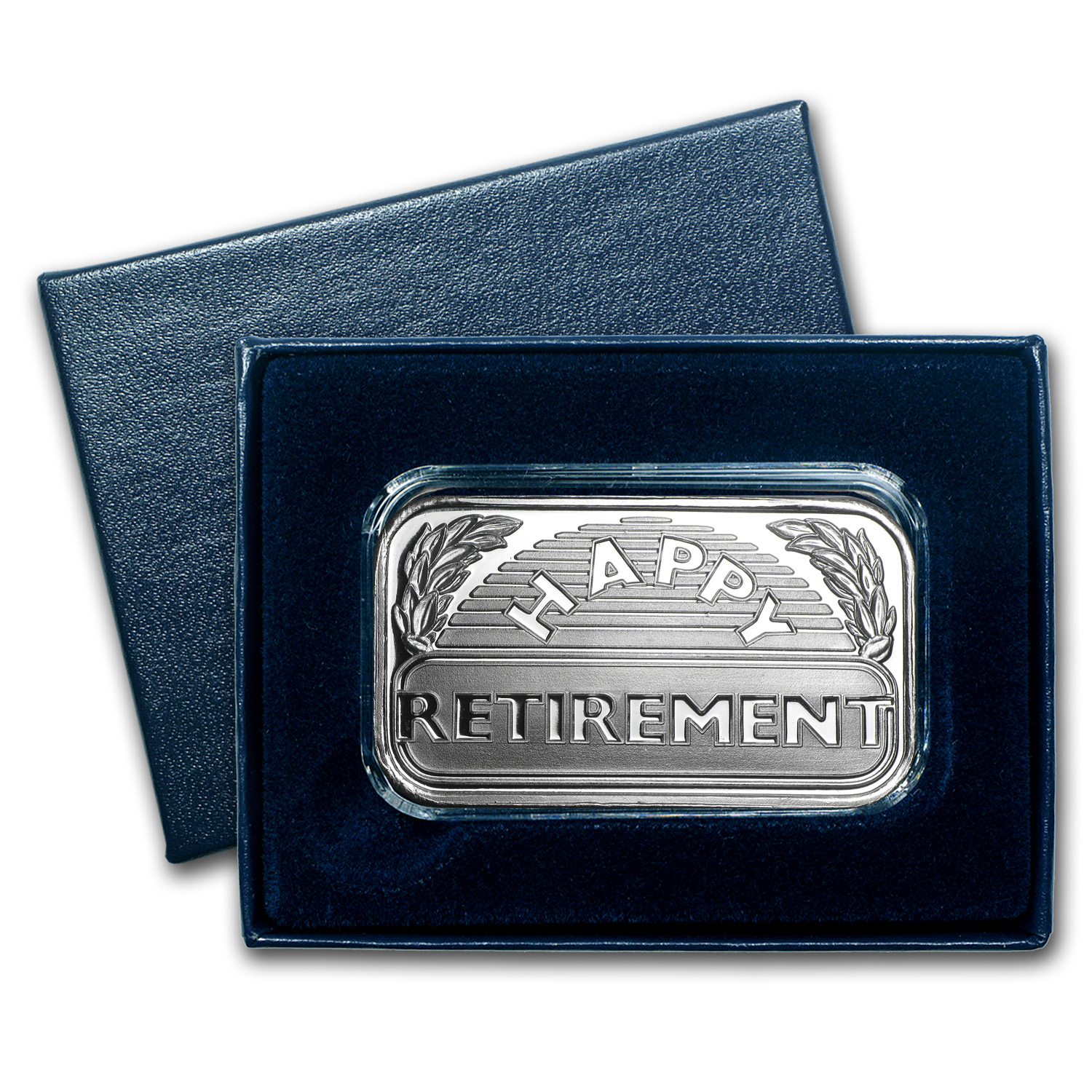 1 oz Silver Bar - 2014 Happy Retirement (w/Box & Capsule)