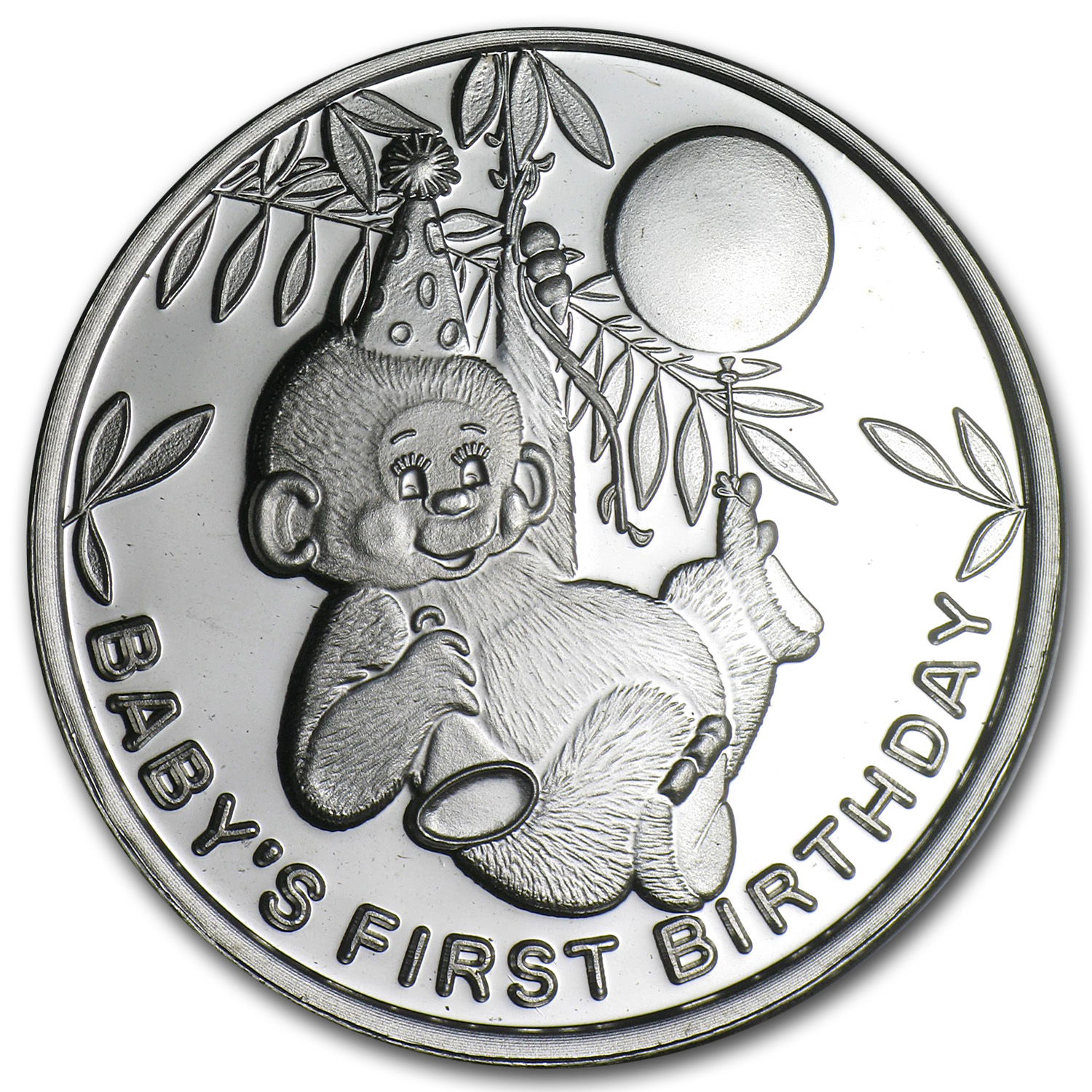 1 oz Silver Round - 2014 Baby's First Birthday (w/Box & Capsule)