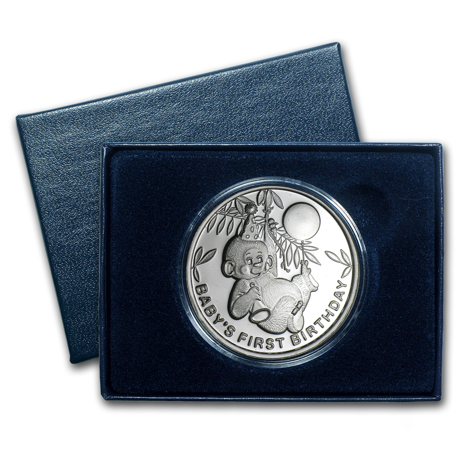 1 oz Silver Rounds - 2014 Baby's First Birthday (w/Box & Capsule)