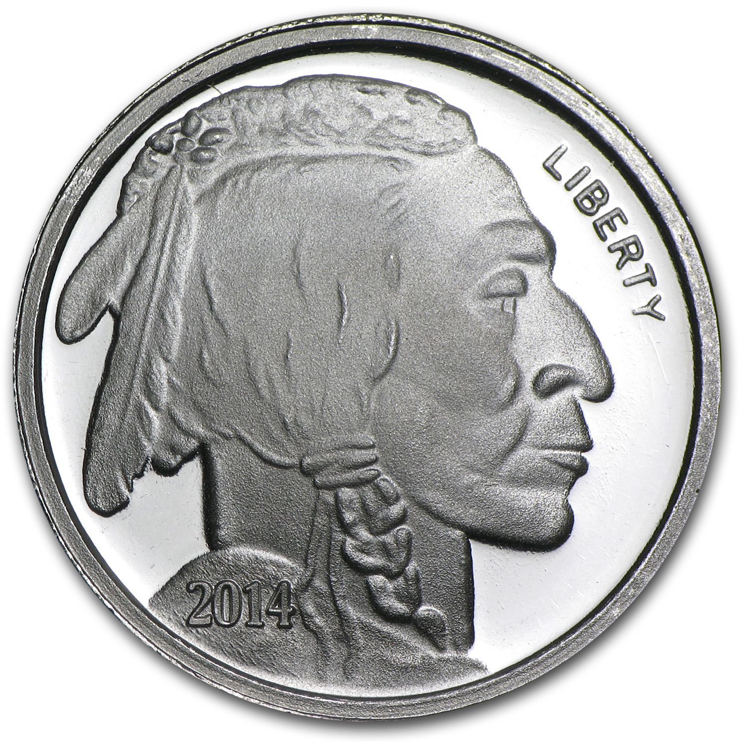 1/2 oz Silver Rounds - 2014 Buffalo