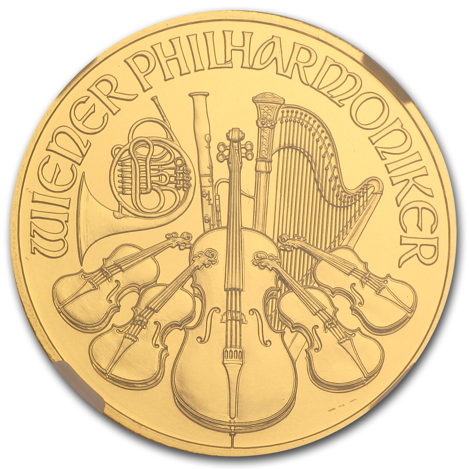 2014 Austria 1 oz Gold Philharmonic MS-69 NGC (ER)