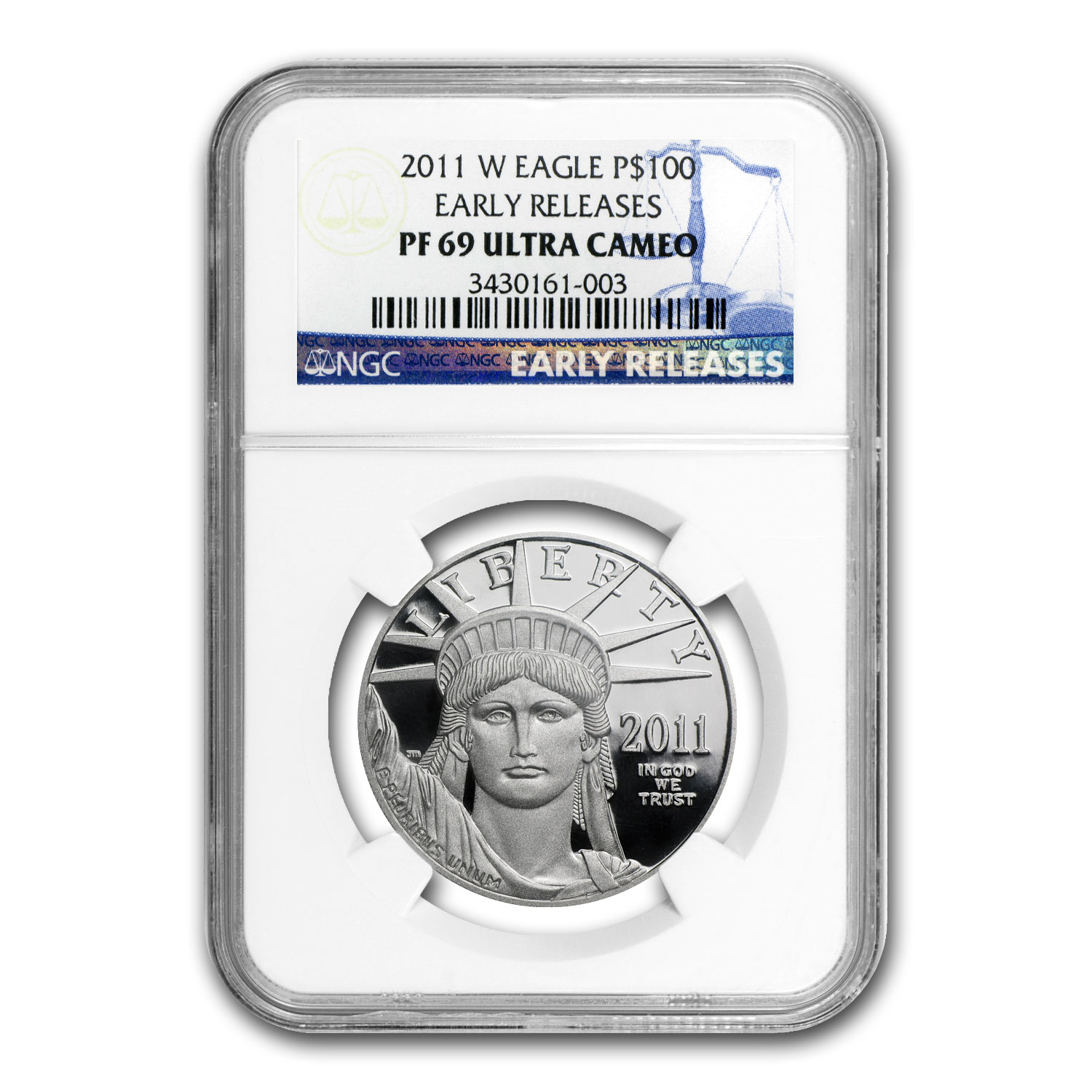 2011-W 1 oz Proof Platinum American Eagle PF-69 NGC (ER)