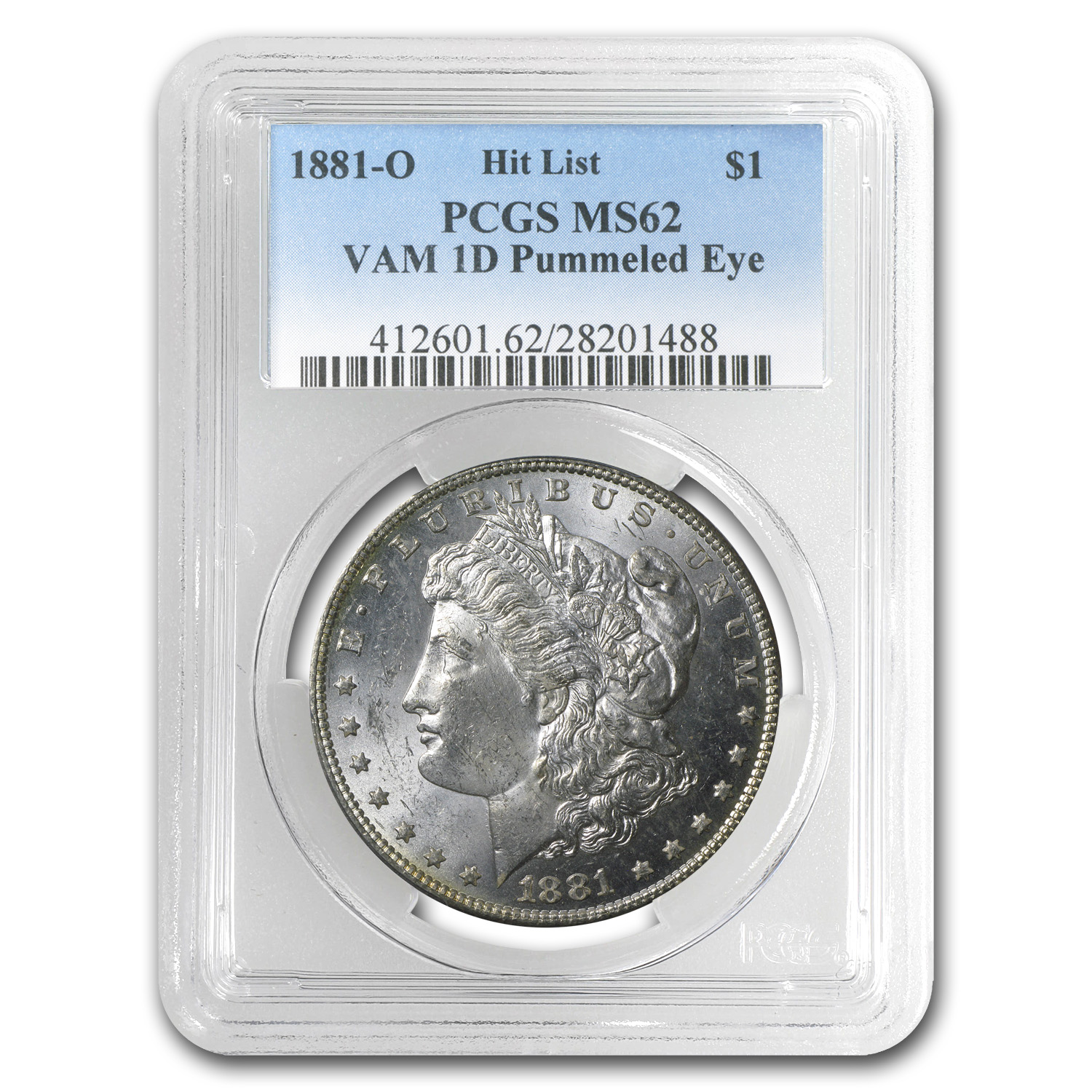 1881-O Morgan Dollar MS-62 PCGS (VAM-1D, Pummeled Eye)