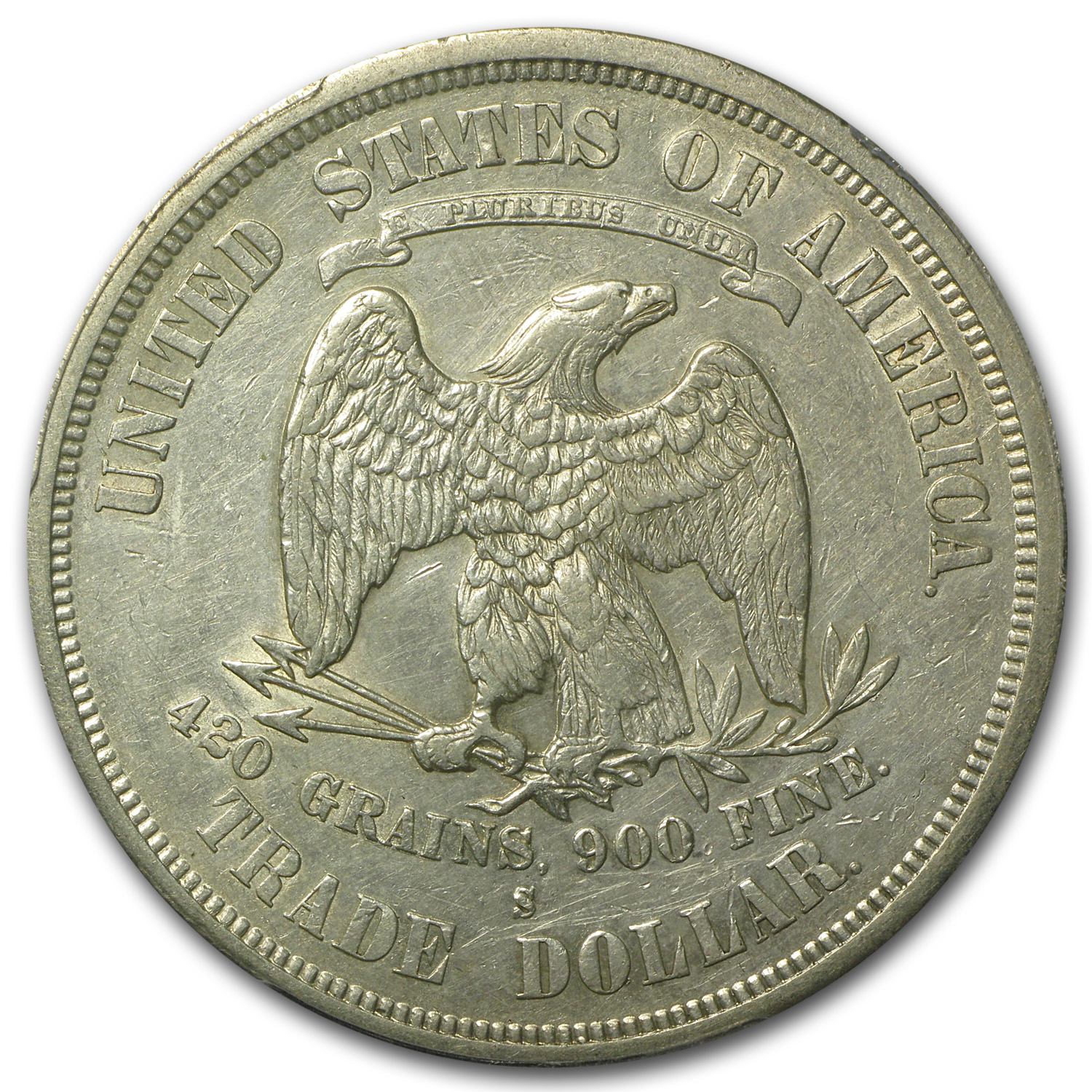 1875-S Trade Dollar Extra Fine-40 PCGS