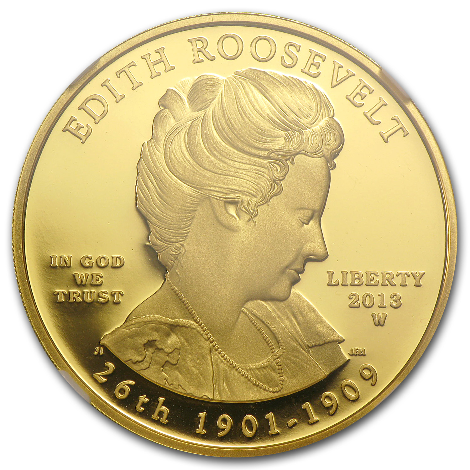 2013-W 1/2 oz Proof Gold Edith Roosevelt PF-70 NGC (ER)