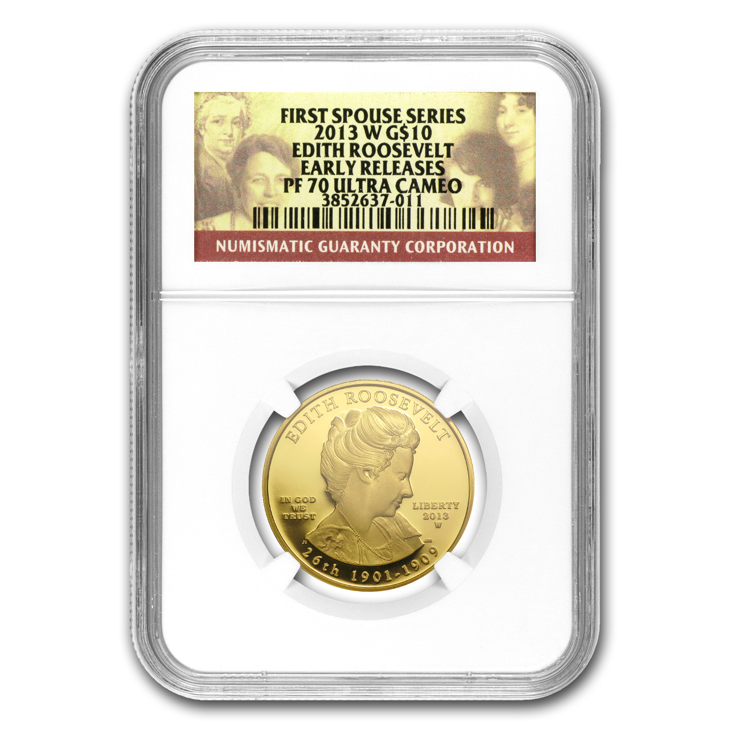 2013-W 1/2 oz Proof Edith Roosevelt PF-70 NGC UCAM ER