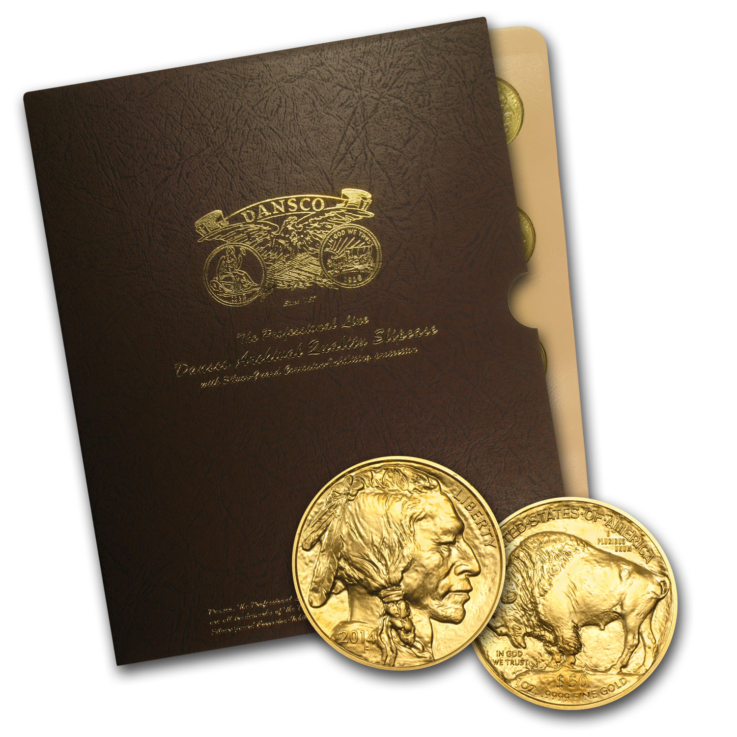 2006-2015 10 Coin 1 oz Gold Buffalo Set BU Dansco Album