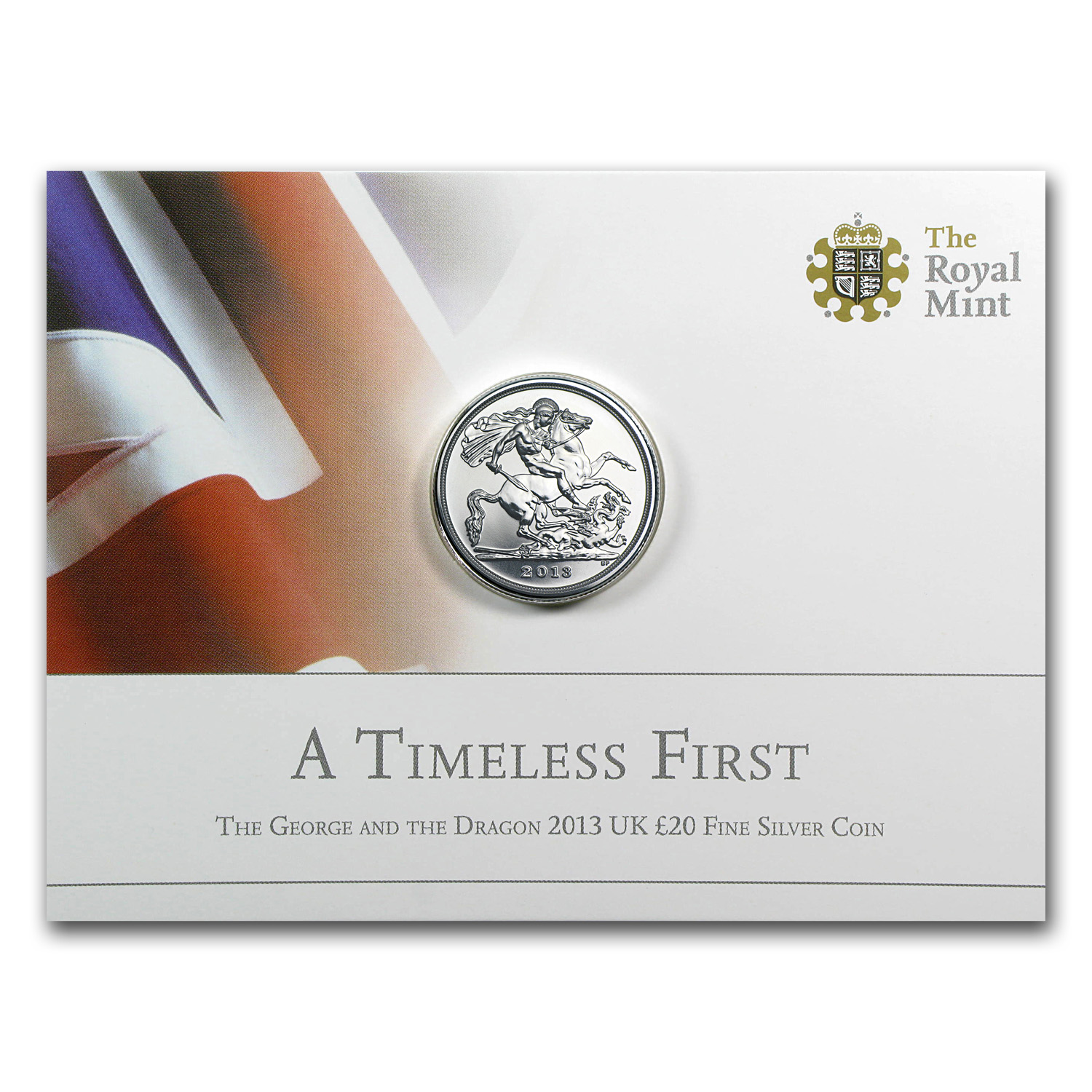 2013 Great Britain Silver £20 St. George and the Dragon BU