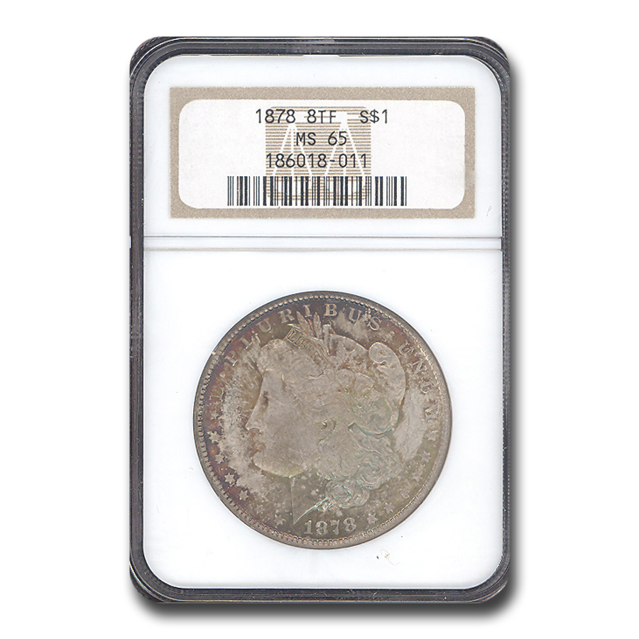 1878 Morgan Dollar - 8 Tailfeathers MS-65 NGC