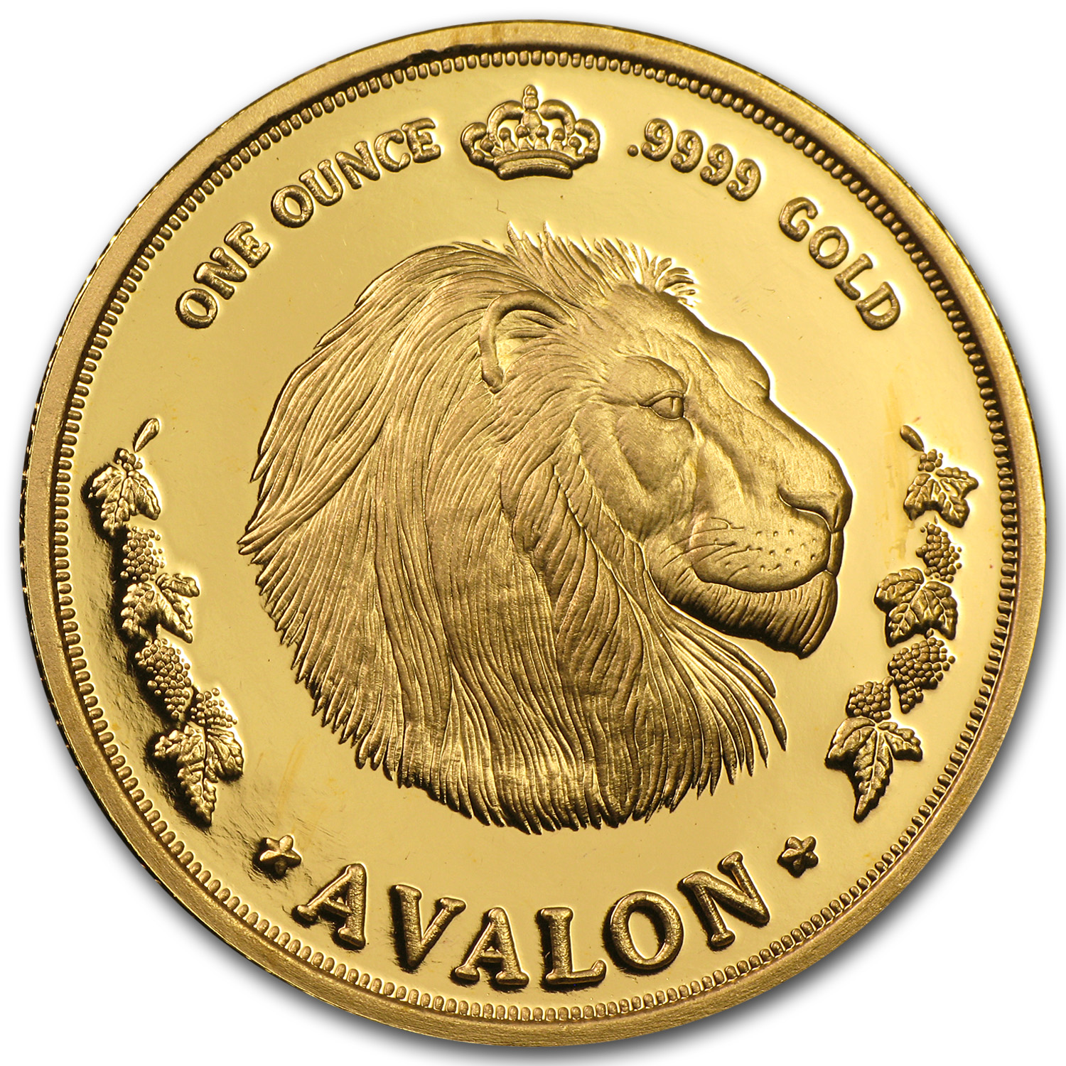 1 oz Gold Round - Lion (Avalon)