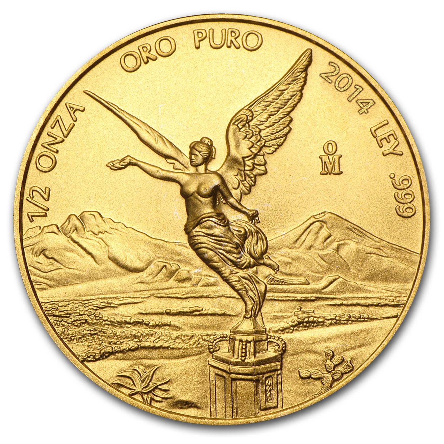2014 Mexico 1/2 oz Gold Libertad BU