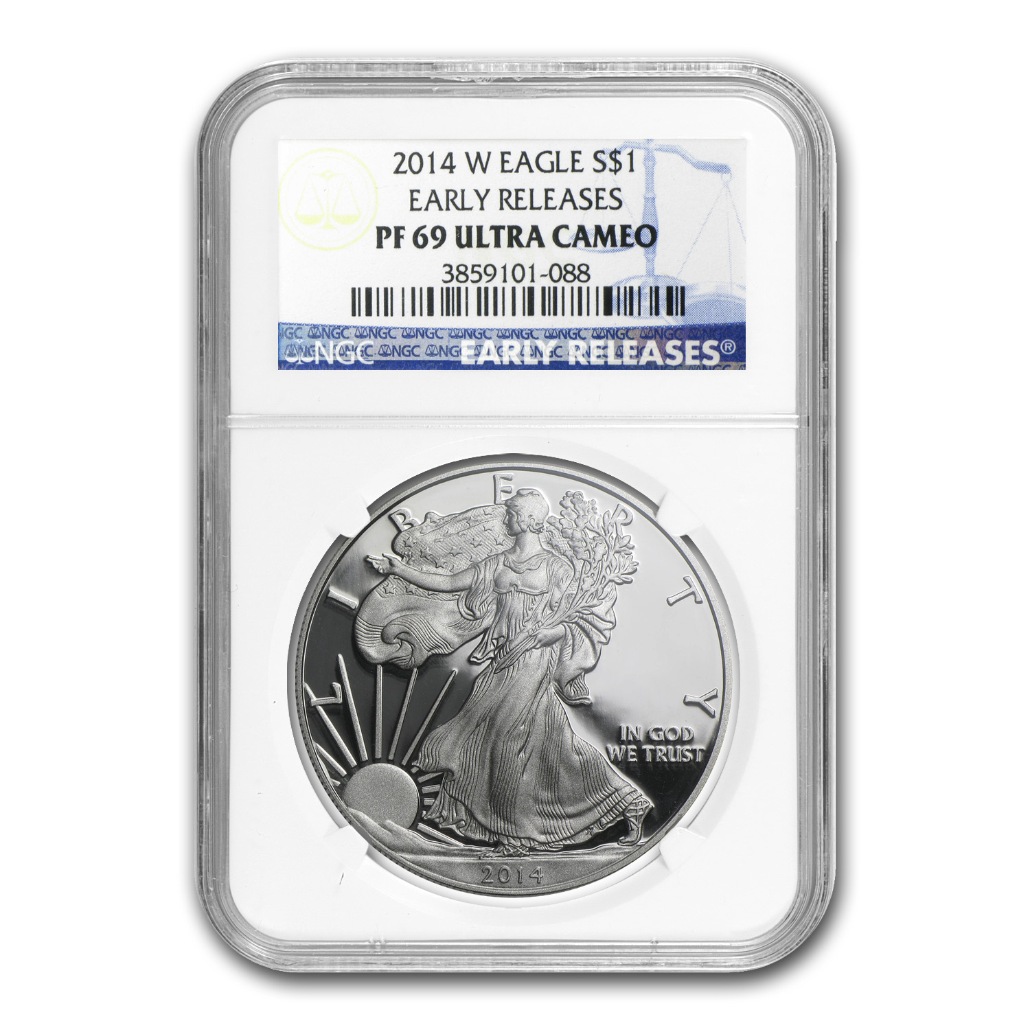 2014-W Proof Silver American Eagle PF-69 NGC (Early Releases)