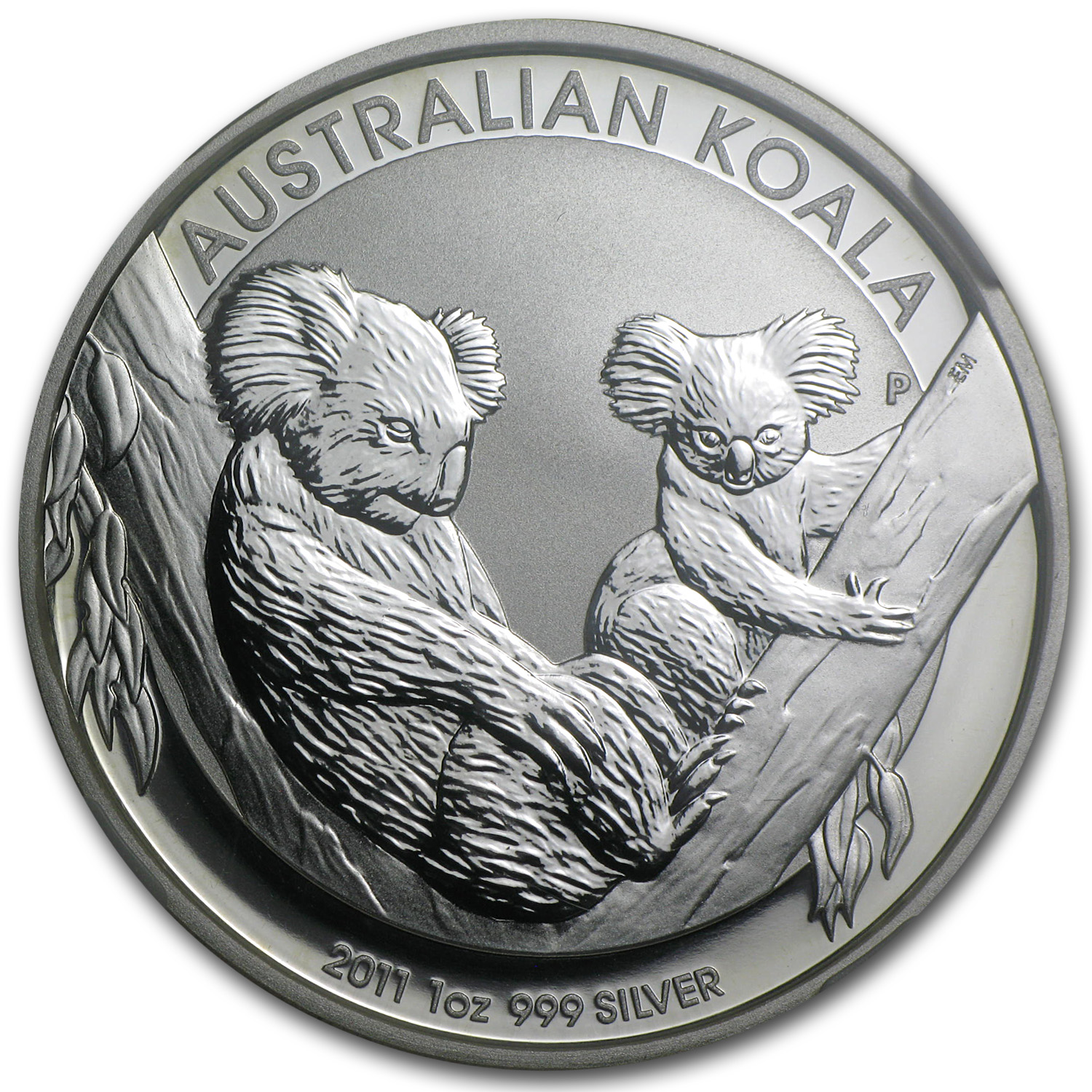 2011-P 1 oz Silver Australian Koala MS-70 NGC - First of 20,000