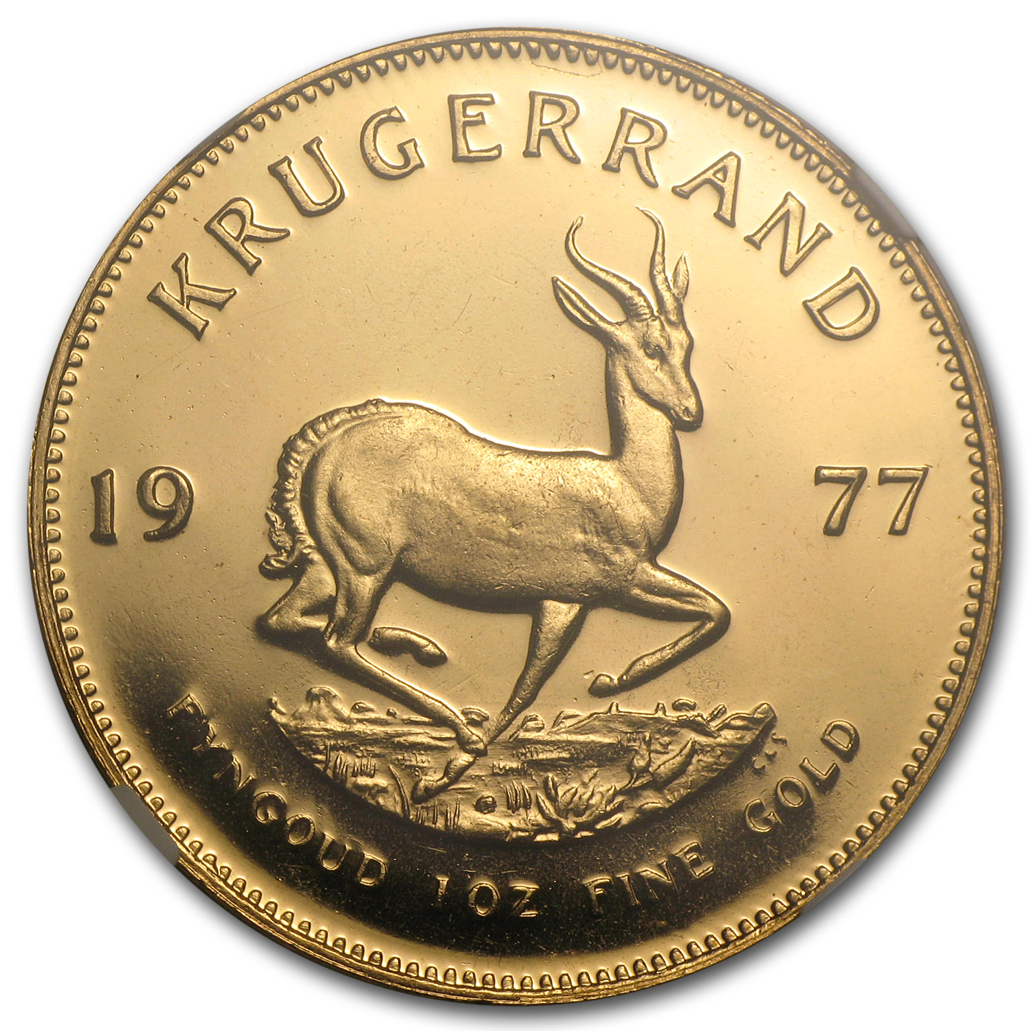 1977 South Africa 1 oz Gold Krugerrand PF-65 NGC