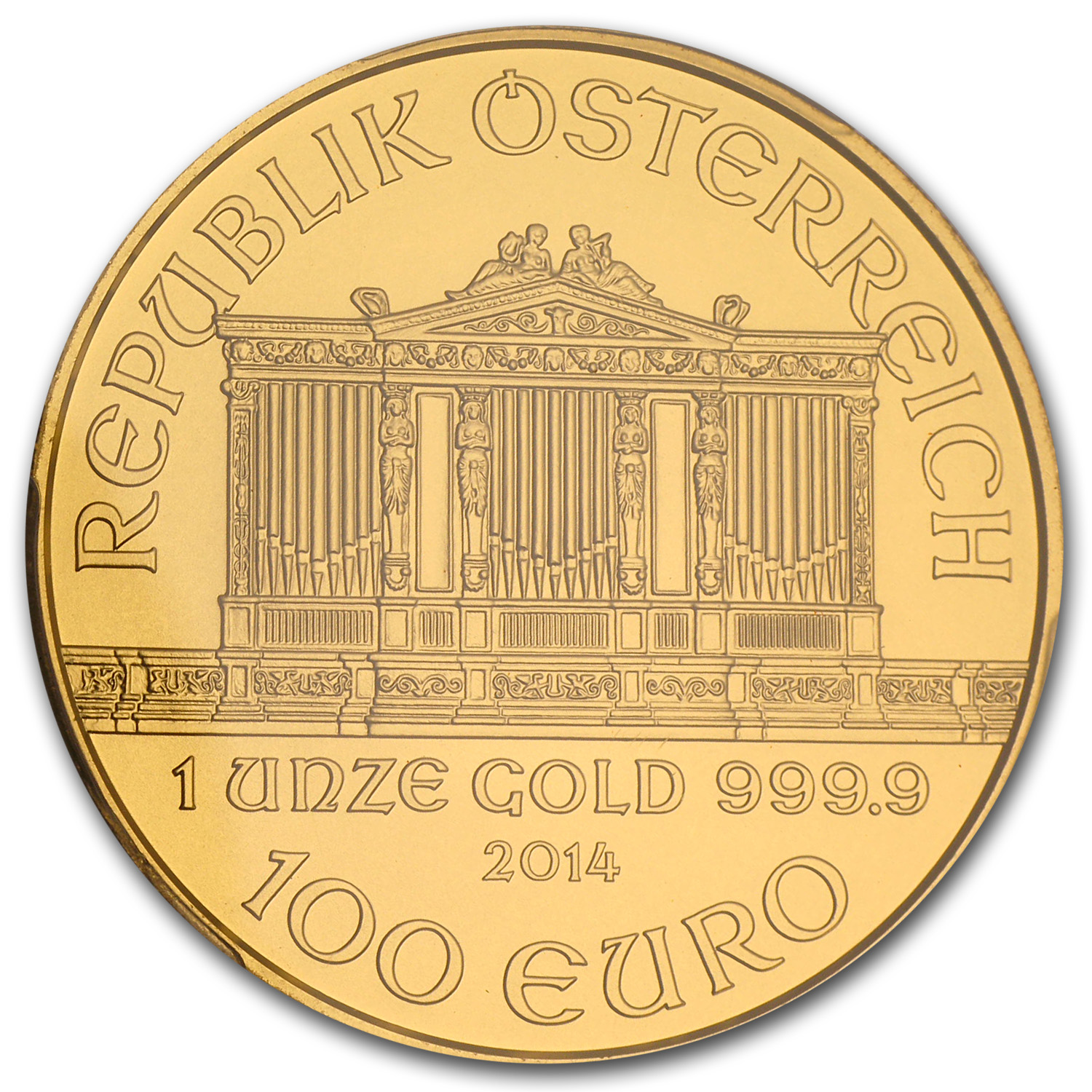 2014 Austria 1 oz Gold Philharmonic MS-70 PCGS