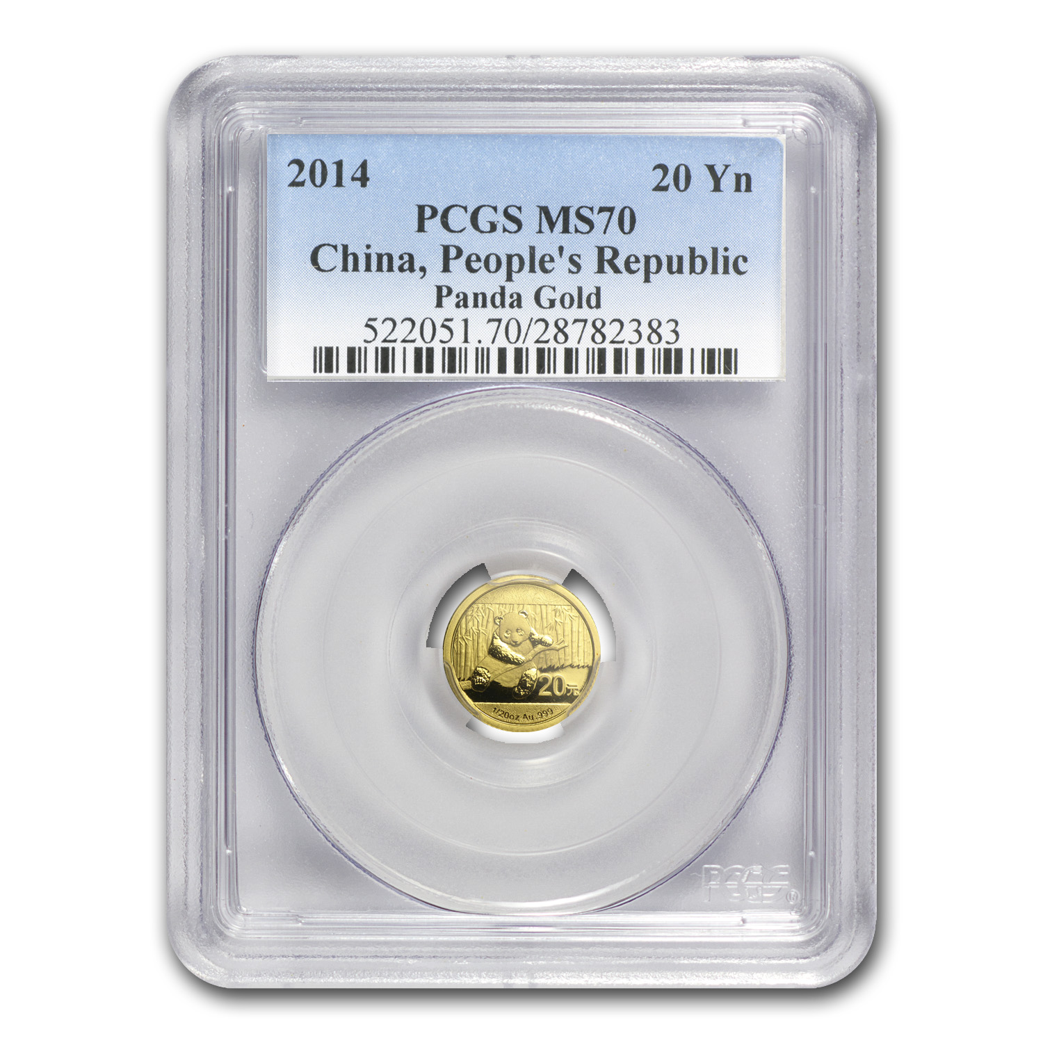 2014 China 1/20 oz Gold Panda MS-70 PCGS